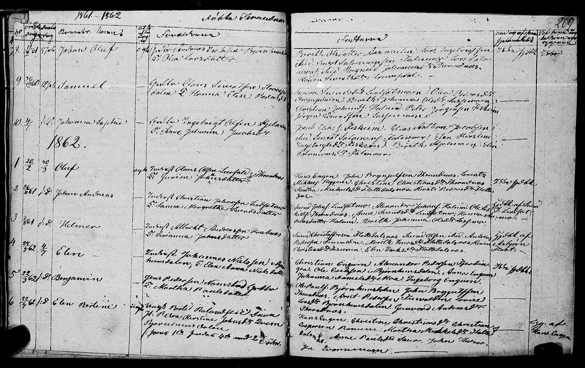 SAT, Ministerialprotokoller, klokkerbøker og fødselsregistre - Nord-Trøndelag, 762/L0538: Ministerialbok nr. 762A02 /2, 1833-1879, s. 209