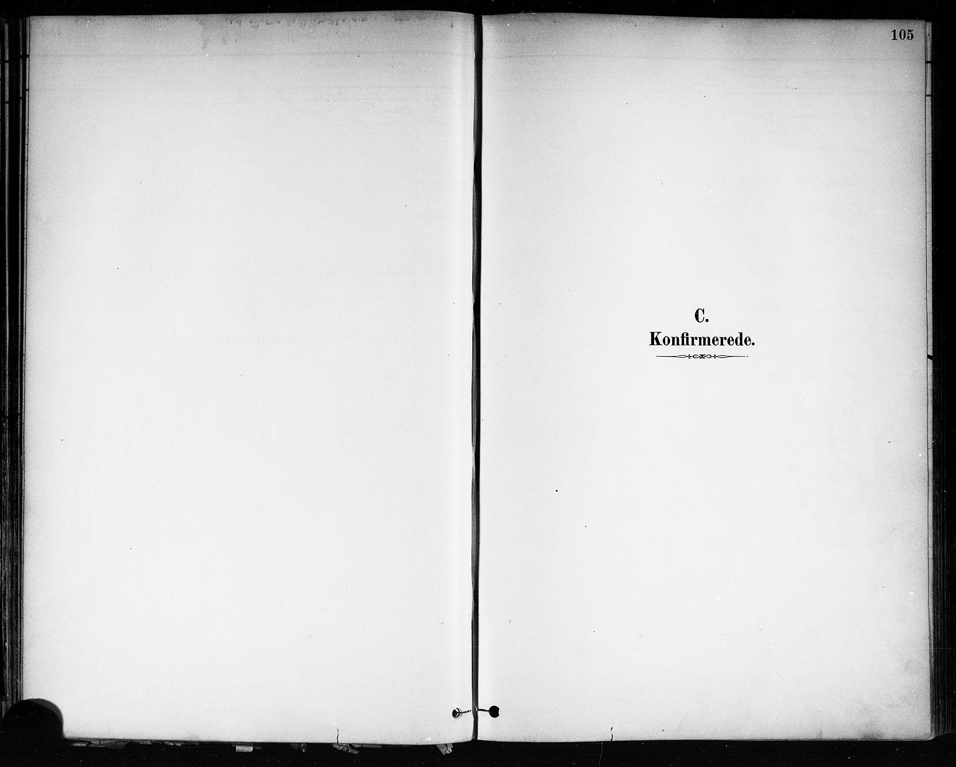 SAKO, Brevik kirkebøker, F/Fa/L0007: Ministerialbok nr. 7, 1882-1900, s. 105