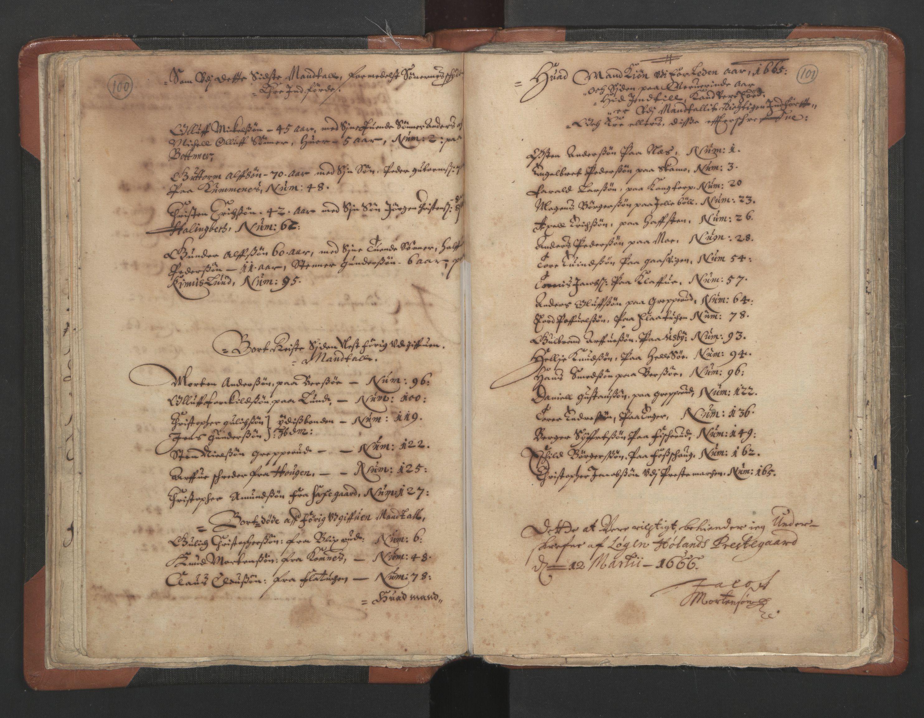 RA, Sogneprestenes manntall 1664-1666, nr. 3: Nedre Romerike prosti, 1664-1666, s. 100-101