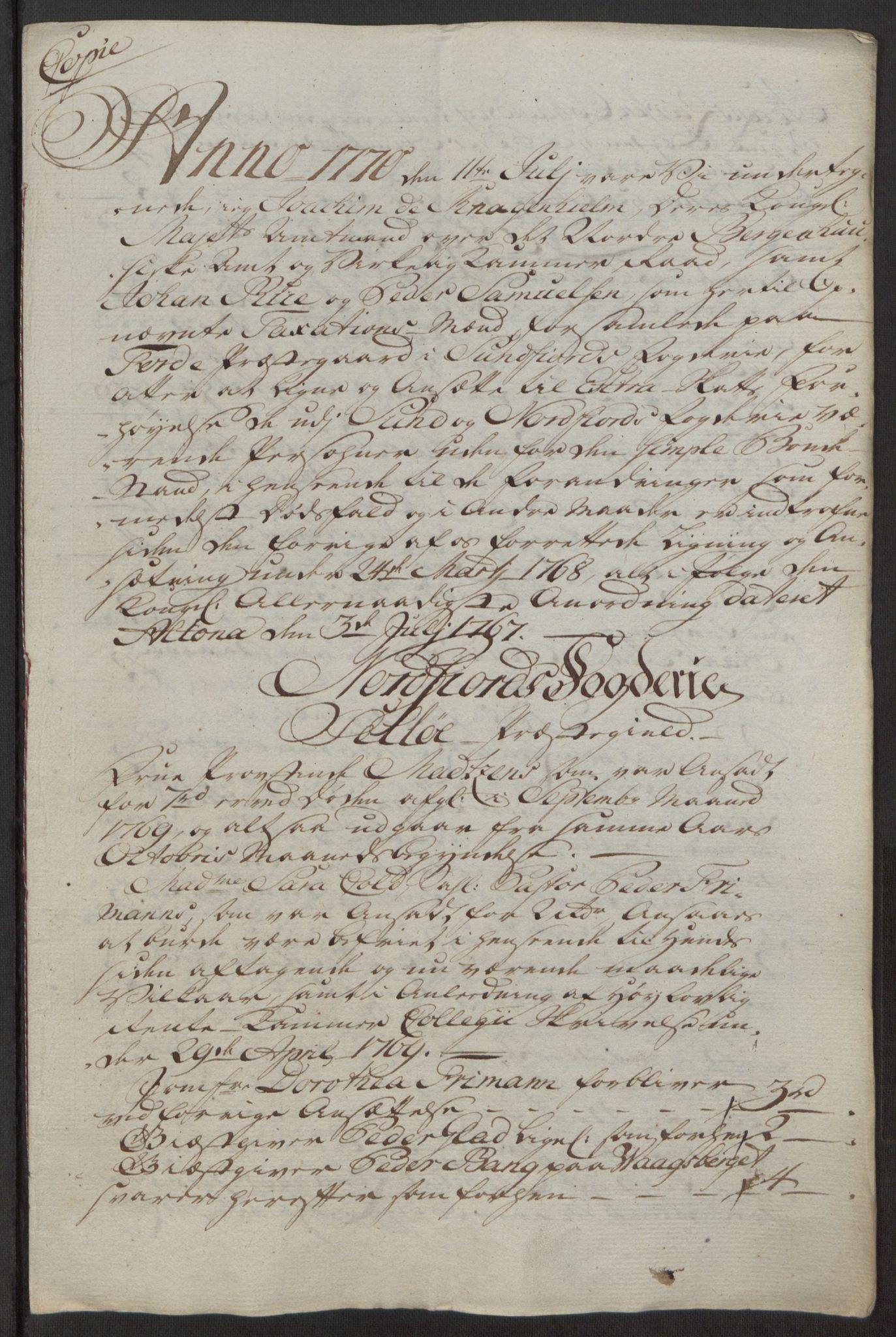 RA, Rentekammeret inntil 1814, Reviderte regnskaper, Fogderegnskap, R53/L3551: Ekstraskatten Sunn- og Nordfjord, 1772, s. 29