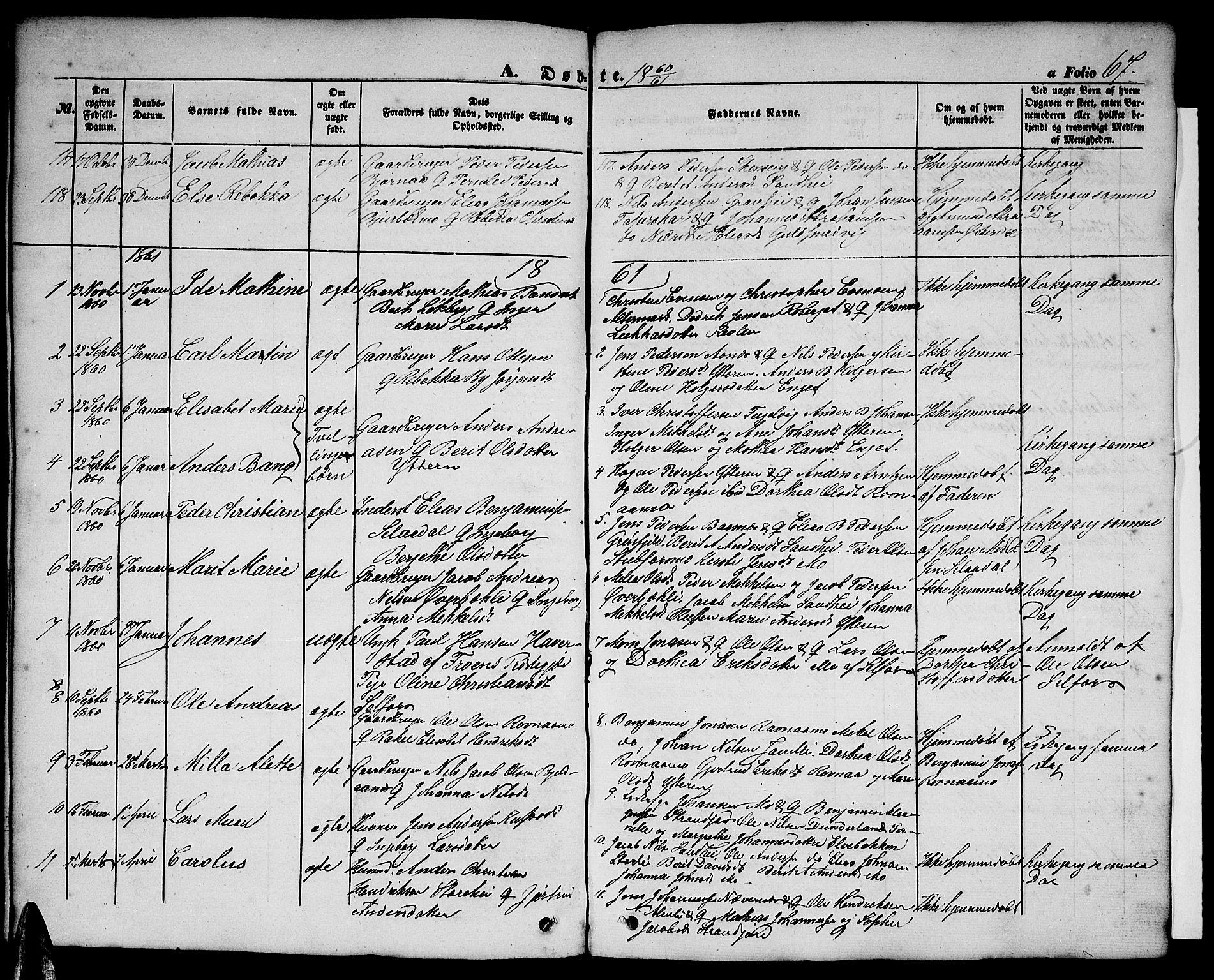 SAT, Ministerialprotokoller, klokkerbøker og fødselsregistre - Nordland, 827/L0414: Klokkerbok nr. 827C03, 1853-1865, s. 67