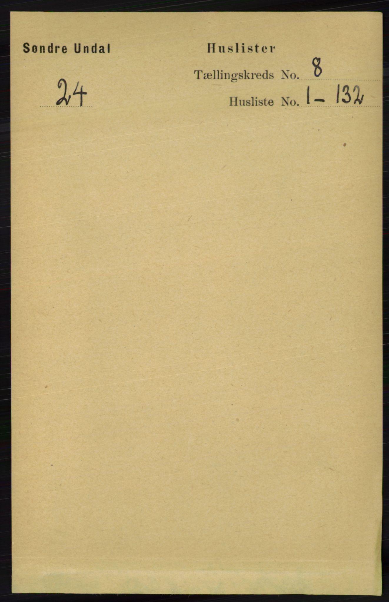 RA, Folketelling 1891 for 1029 Sør-Audnedal herred, 1891, s. 2968