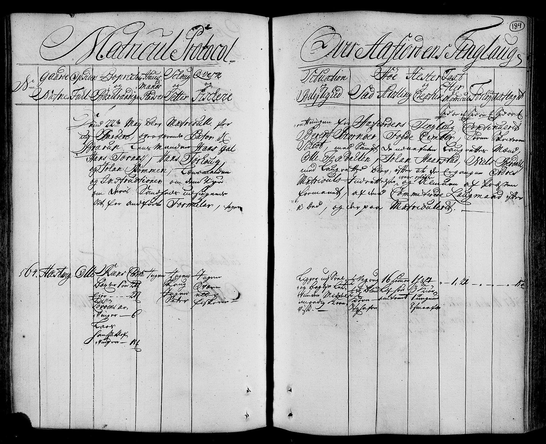 RA, Rentekammeret inntil 1814, Realistisk ordnet avdeling, N/Nb/Nbf/L0162: Fosen eksaminasjonsprotokoll, 1723, s. 183b-184a