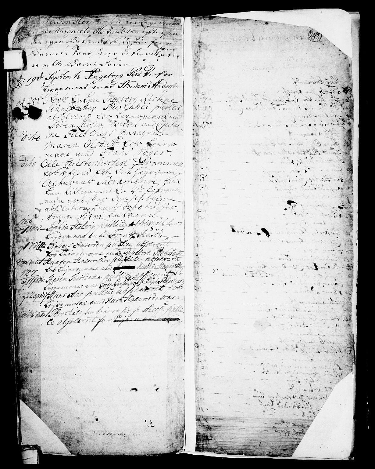 SAKO, Skien kirkebøker, F/Fa/L0002: Ministerialbok nr. 2, 1716-1757, s. 243