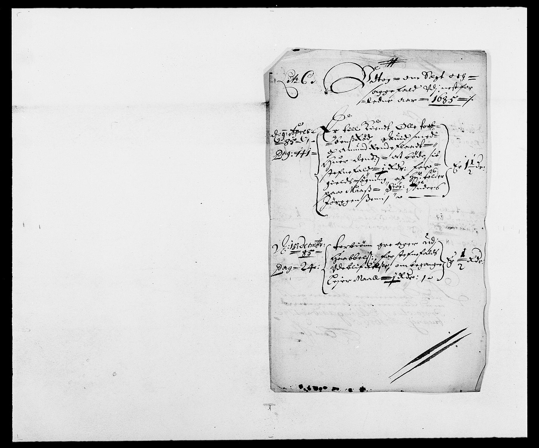 RA, Rentekammeret inntil 1814, Reviderte regnskaper, Fogderegnskap, R02/L0105: Fogderegnskap Moss og Verne kloster, 1685-1687, s. 57