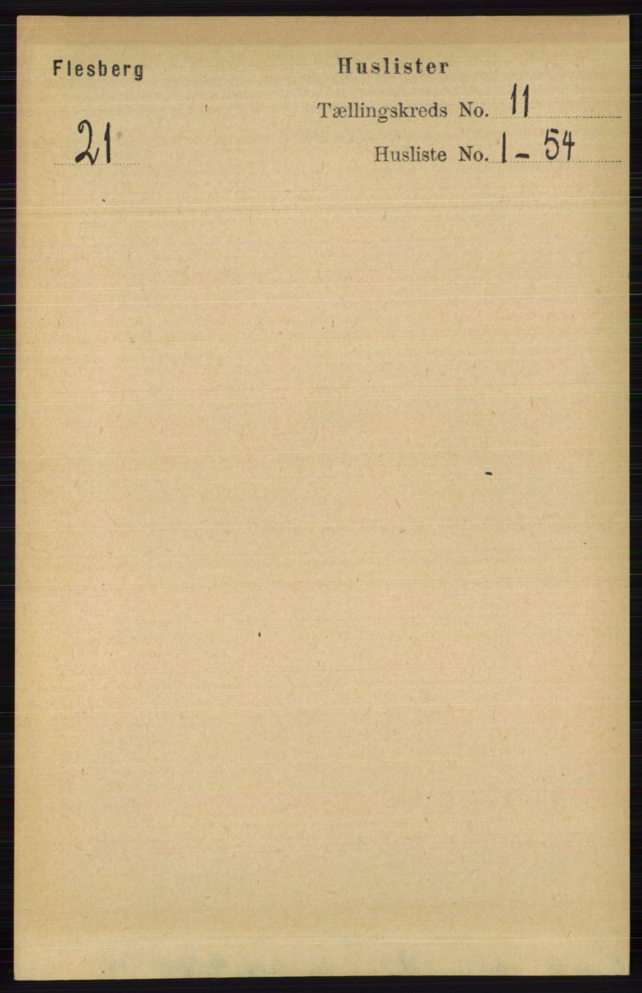 RA, Folketelling 1891 for 0631 Flesberg herred, 1891, s. 1718