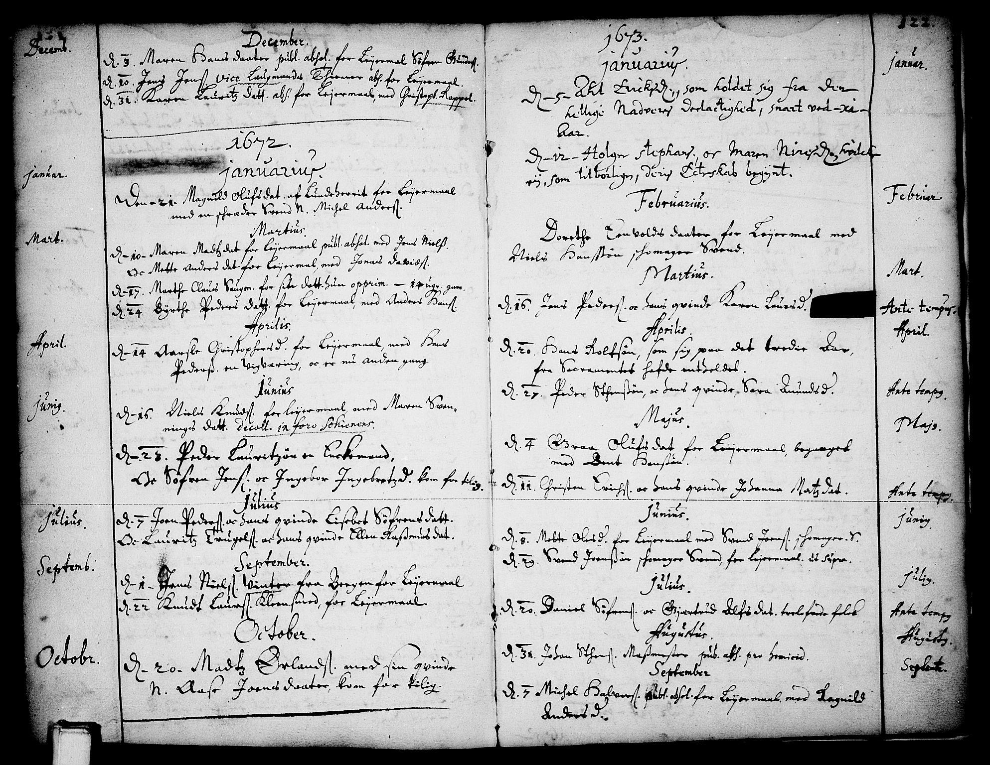 SAKO, Skien kirkebøker, F/Fa/L0001: Ministerialbok nr. 1, 1659-1679, s. 122