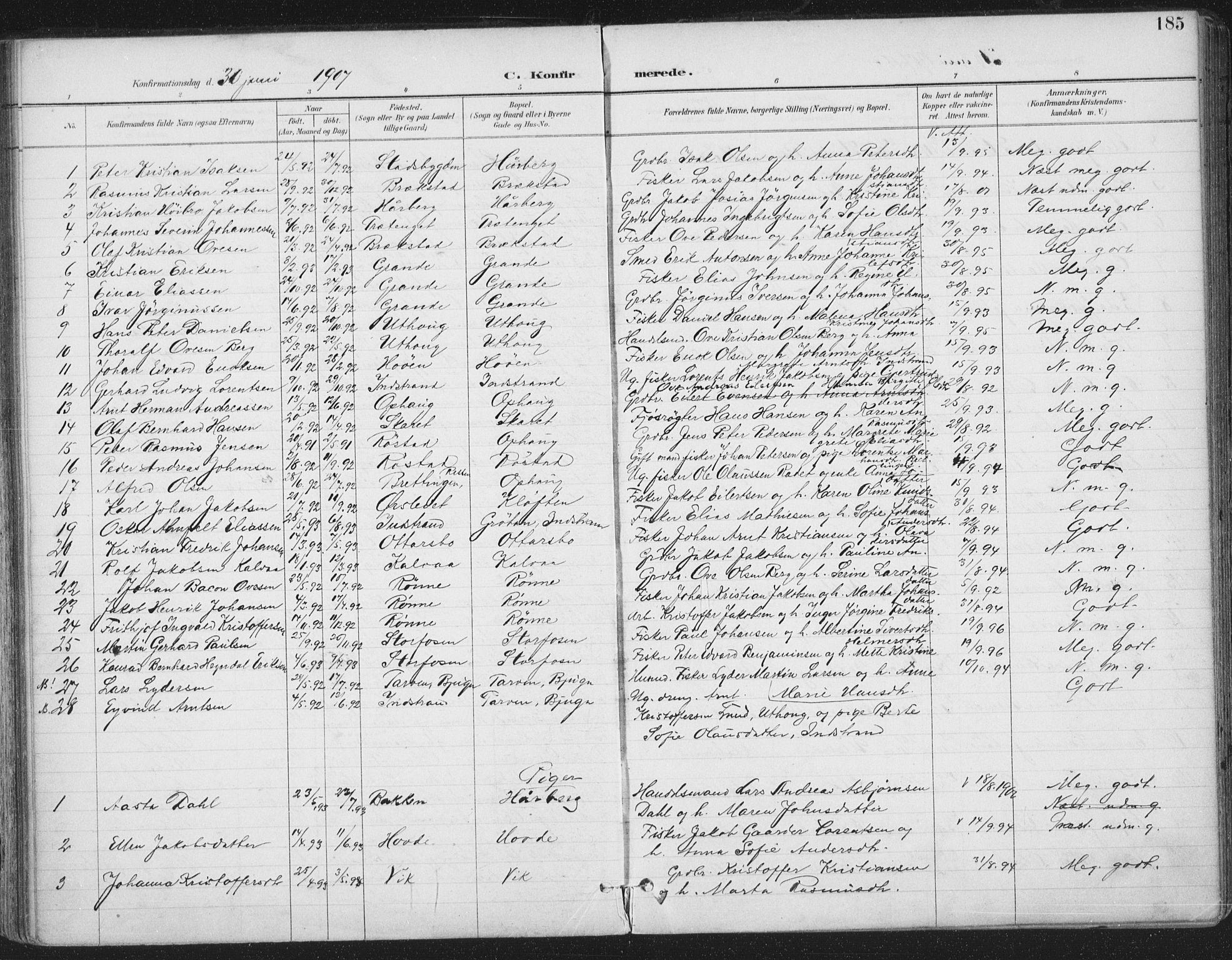 SAT, Ministerialprotokoller, klokkerbøker og fødselsregistre - Sør-Trøndelag, 659/L0743: Ministerialbok nr. 659A13, 1893-1910, s. 185