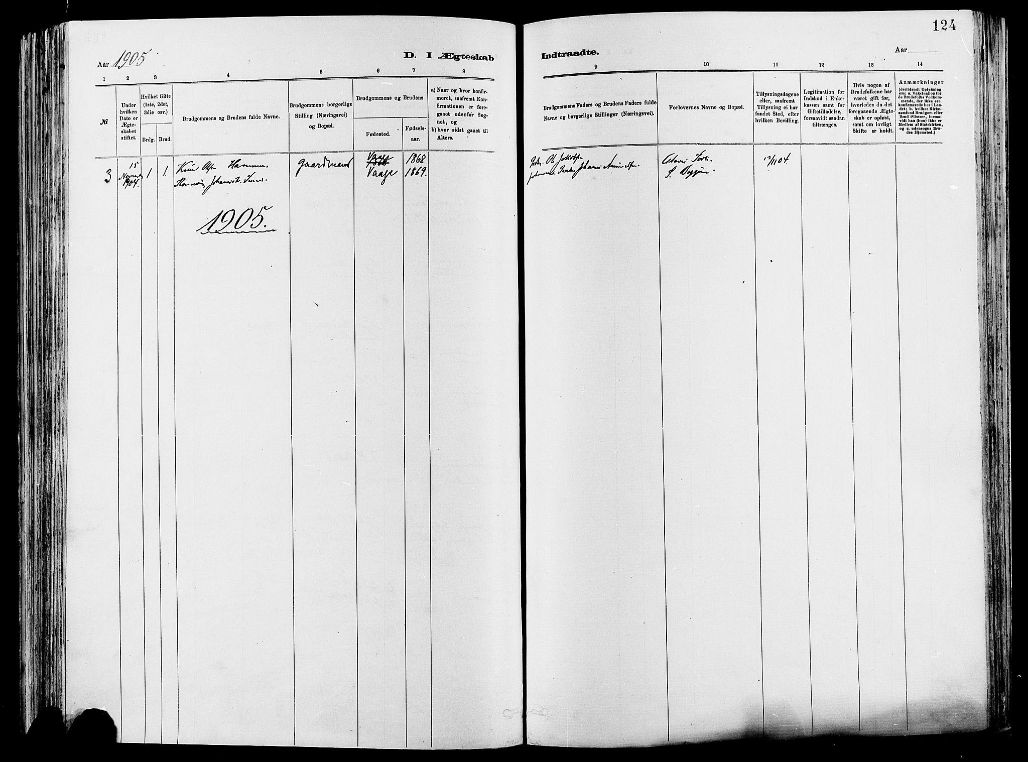 SAH, Vågå prestekontor, Ministerialbok nr. 8, 1886-1904, s. 124