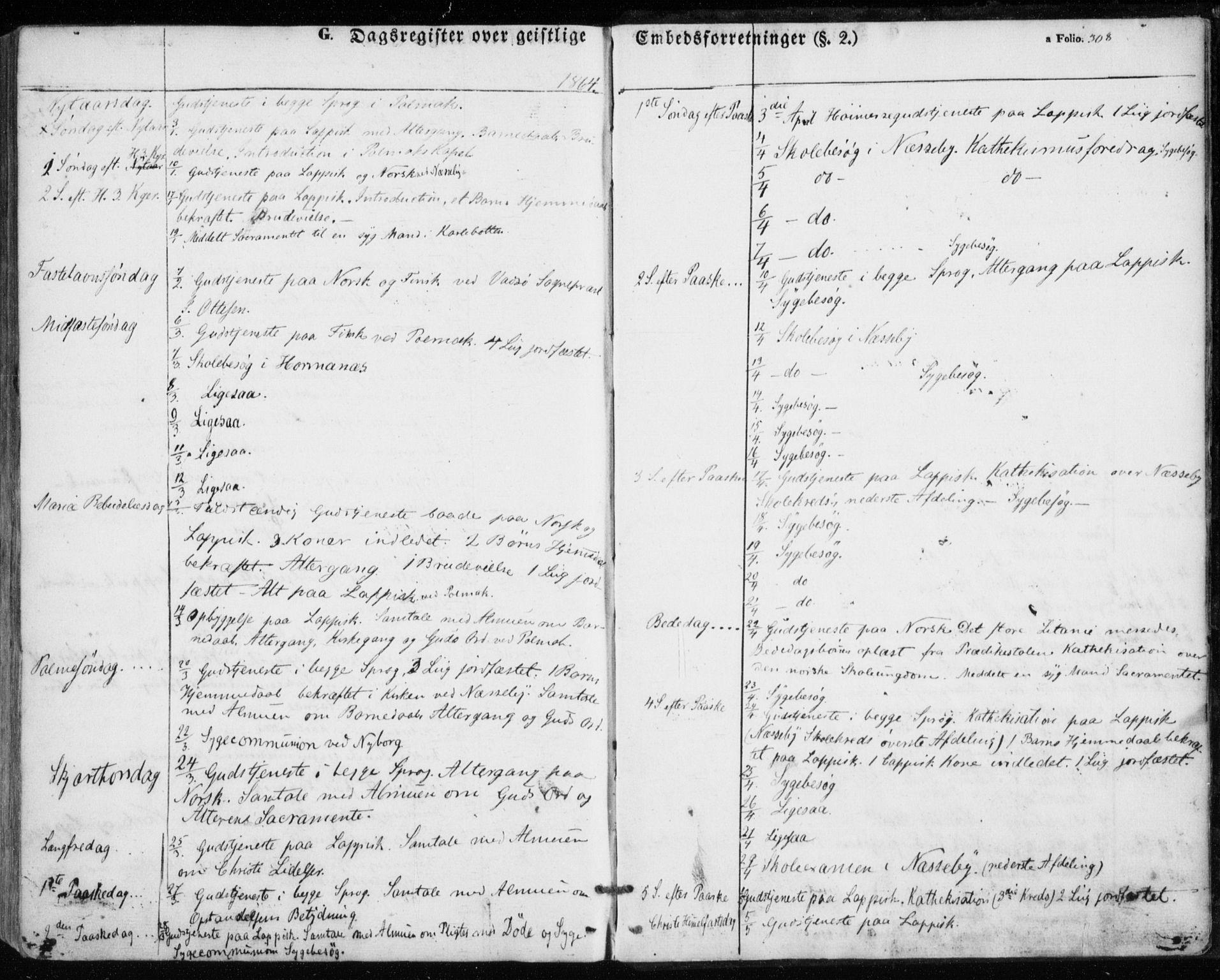 SATØ, Nesseby sokneprestkontor, H/Ha/L0002kirke: Ministerialbok nr. 2, 1856-1864, s. 308