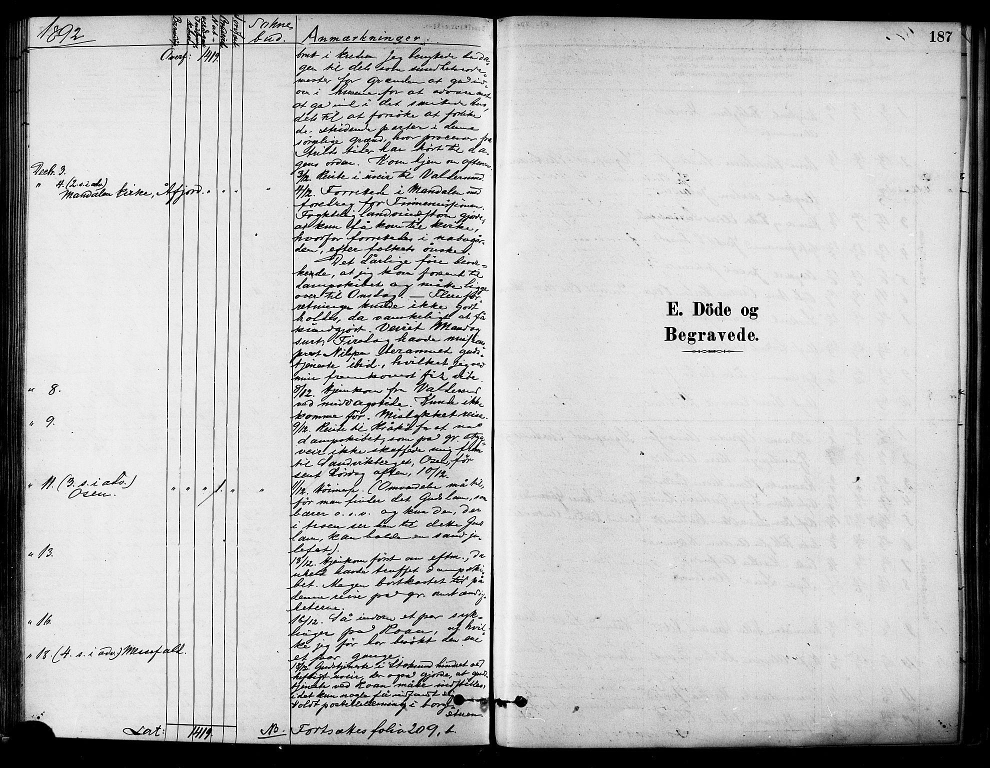 SAT, Ministerialprotokoller, klokkerbøker og fødselsregistre - Sør-Trøndelag, 657/L0707: Ministerialbok nr. 657A08, 1879-1893, s. 187