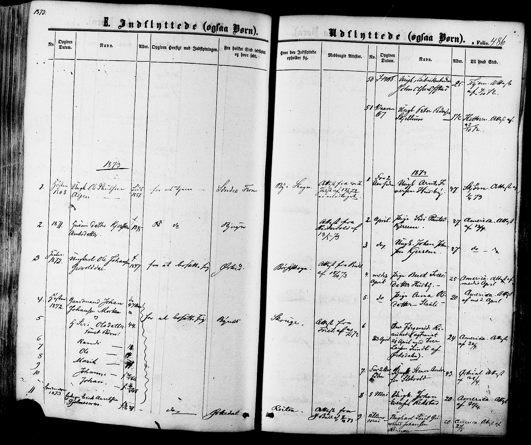 SAT, Ministerialprotokoller, klokkerbøker og fødselsregistre - Sør-Trøndelag, 665/L0772: Ministerialbok nr. 665A07, 1856-1878, s. 486