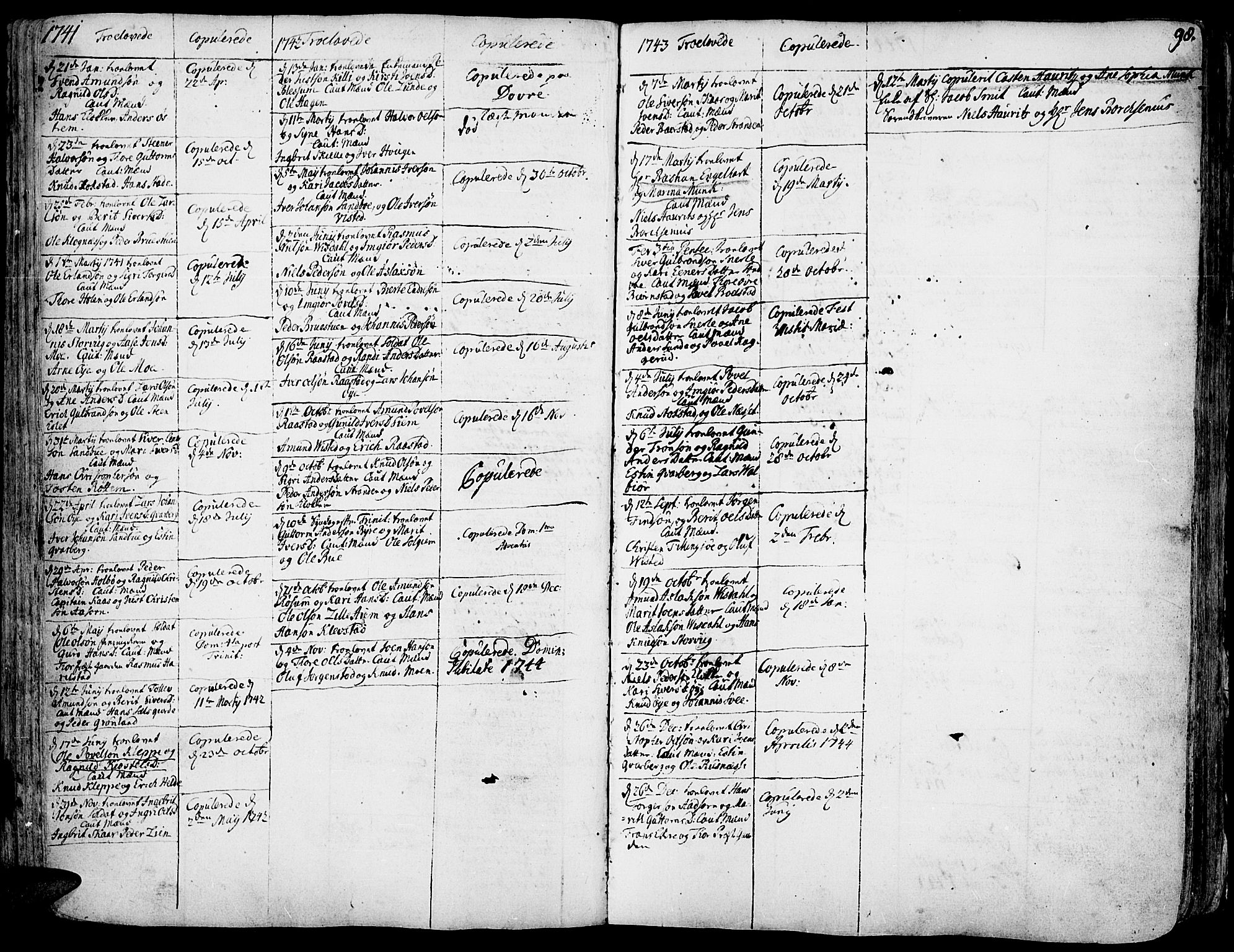 SAH, Vågå prestekontor, Ministerialbok nr. 1, 1739-1810, s. 98