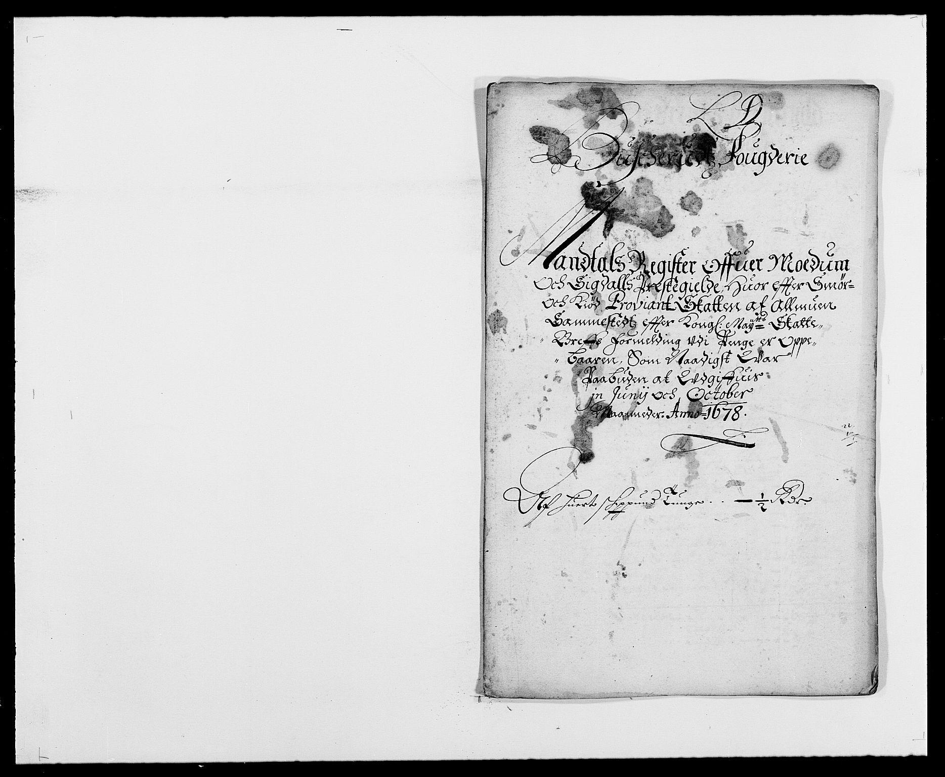 RA, Rentekammeret inntil 1814, Reviderte regnskaper, Fogderegnskap, R25/L1674: Fogderegnskap Buskerud, 1678-1681, s. 109