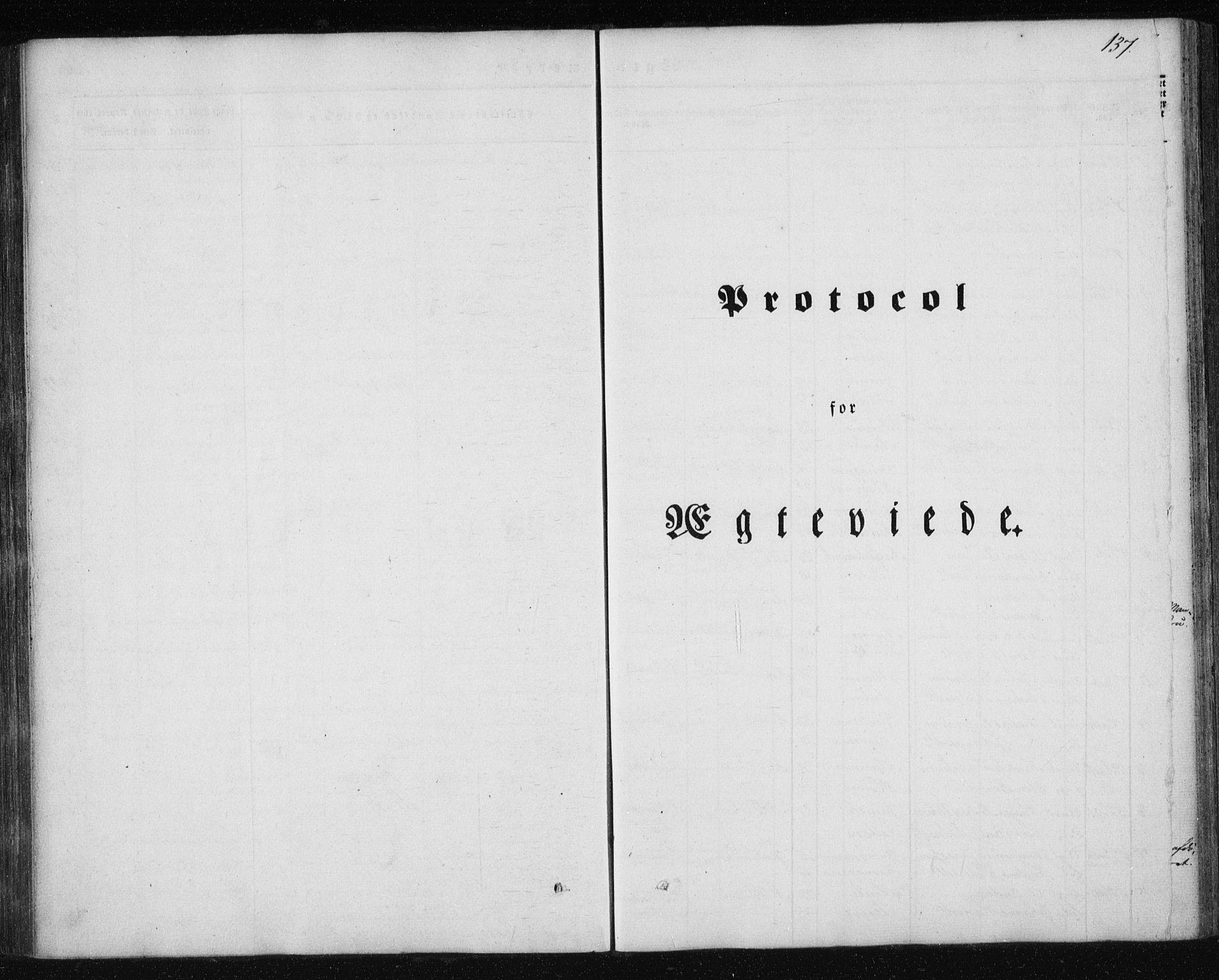 SAT, Ministerialprotokoller, klokkerbøker og fødselsregistre - Nordland, 827/L0391: Ministerialbok nr. 827A03, 1842-1852, s. 137