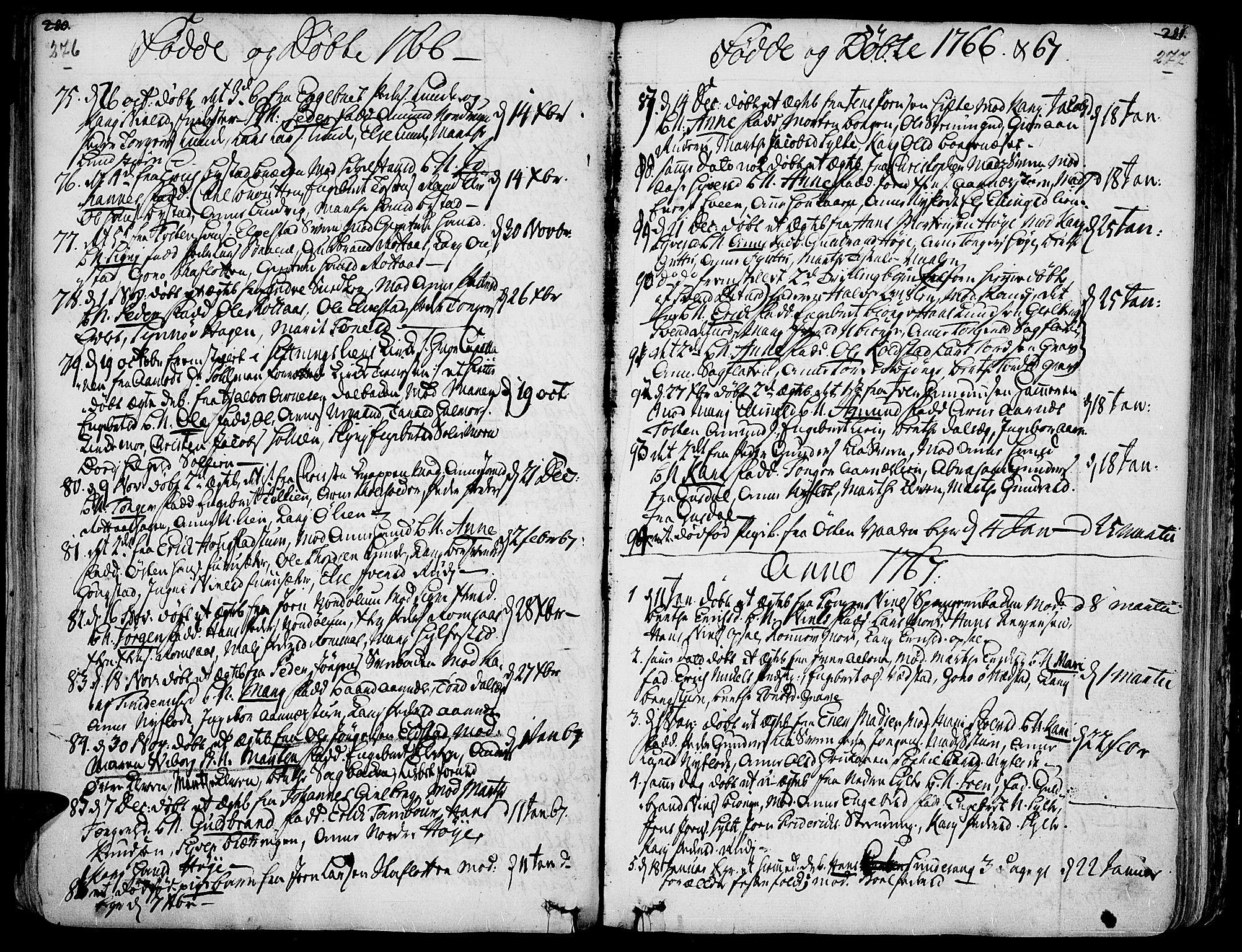 SAH, Ringebu prestekontor, Ministerialbok nr. 2, 1734-1780, s. 276-277
