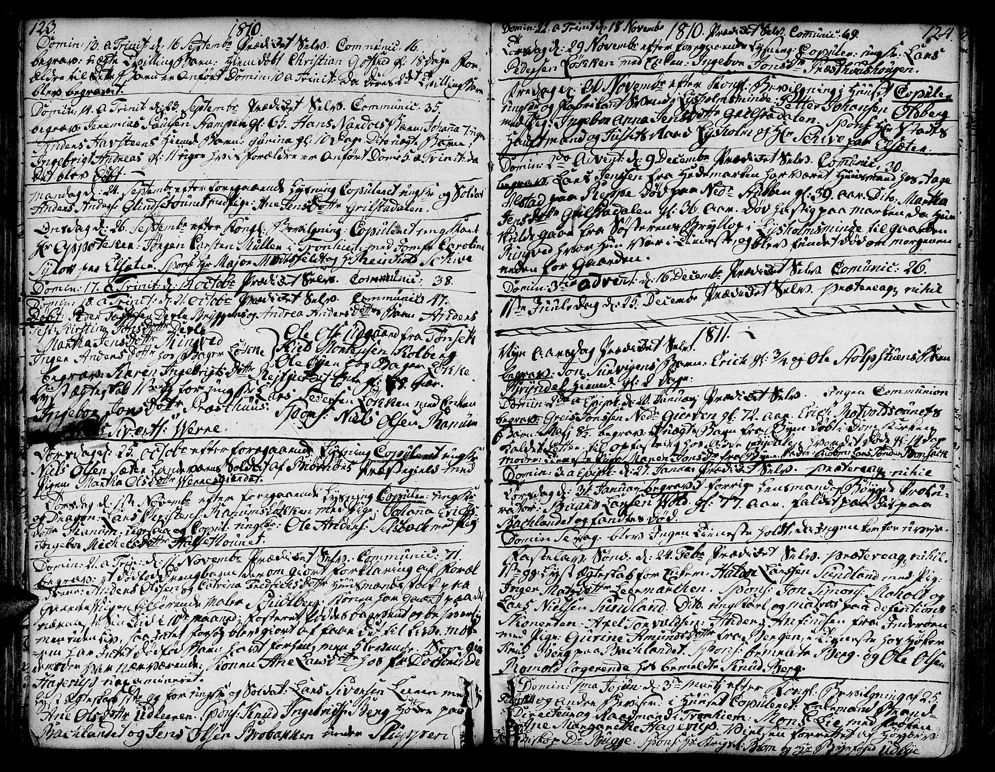 SAT, Ministerialprotokoller, klokkerbøker og fødselsregistre - Sør-Trøndelag, 606/L0280: Ministerialbok nr. 606A02 /1, 1781-1817, s. 123-124