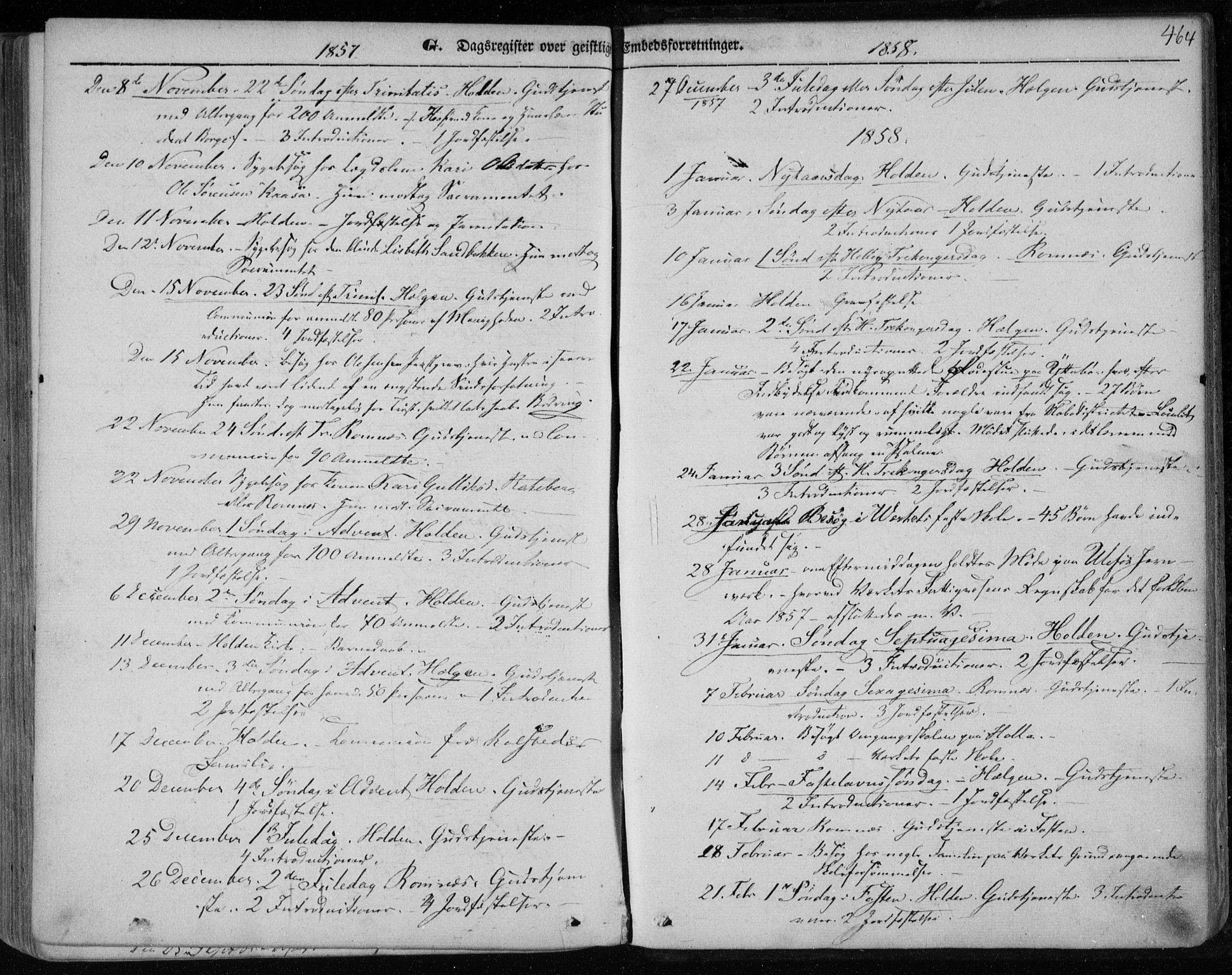 SAKO, Holla kirkebøker, F/Fa/L0005: Ministerialbok nr. 5, 1849-1860, s. 464