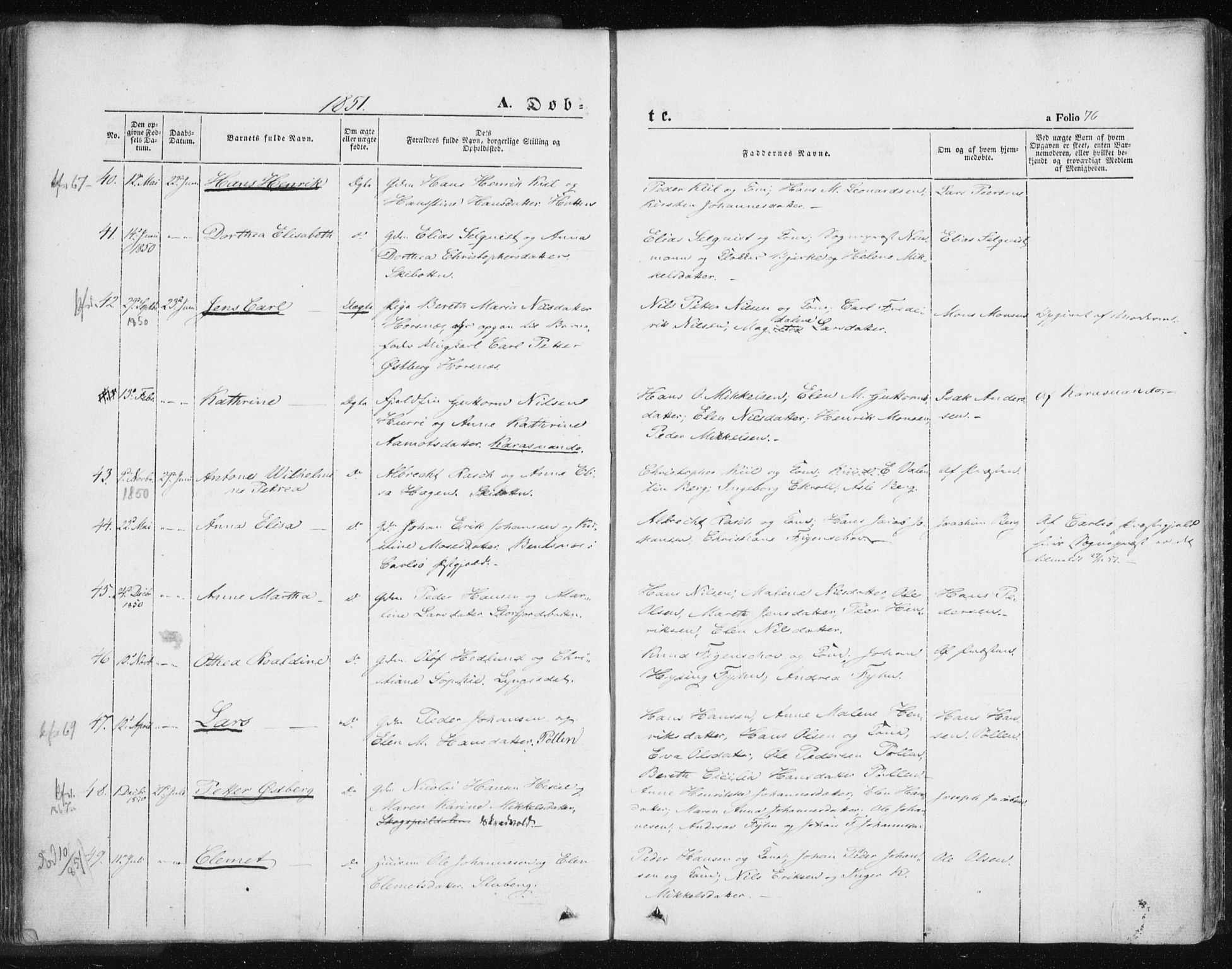 SATØ, Lyngen sokneprestembete, Ministerialbok nr. 4, 1839-1858, s. 76