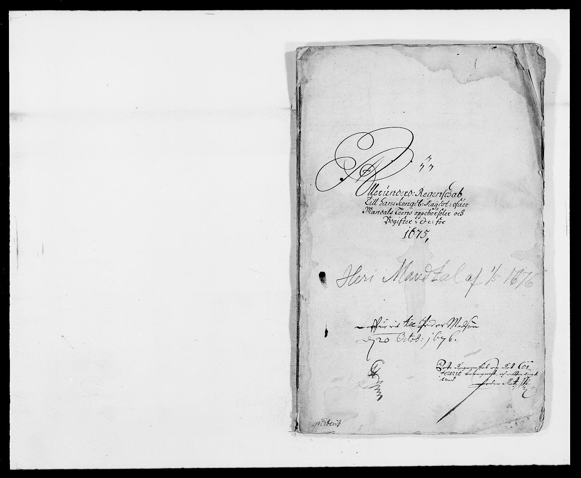 RA, Rentekammeret inntil 1814, Reviderte regnskaper, Fogderegnskap, R42/L2539: Mandal fogderi, 1671-1675, s. 267