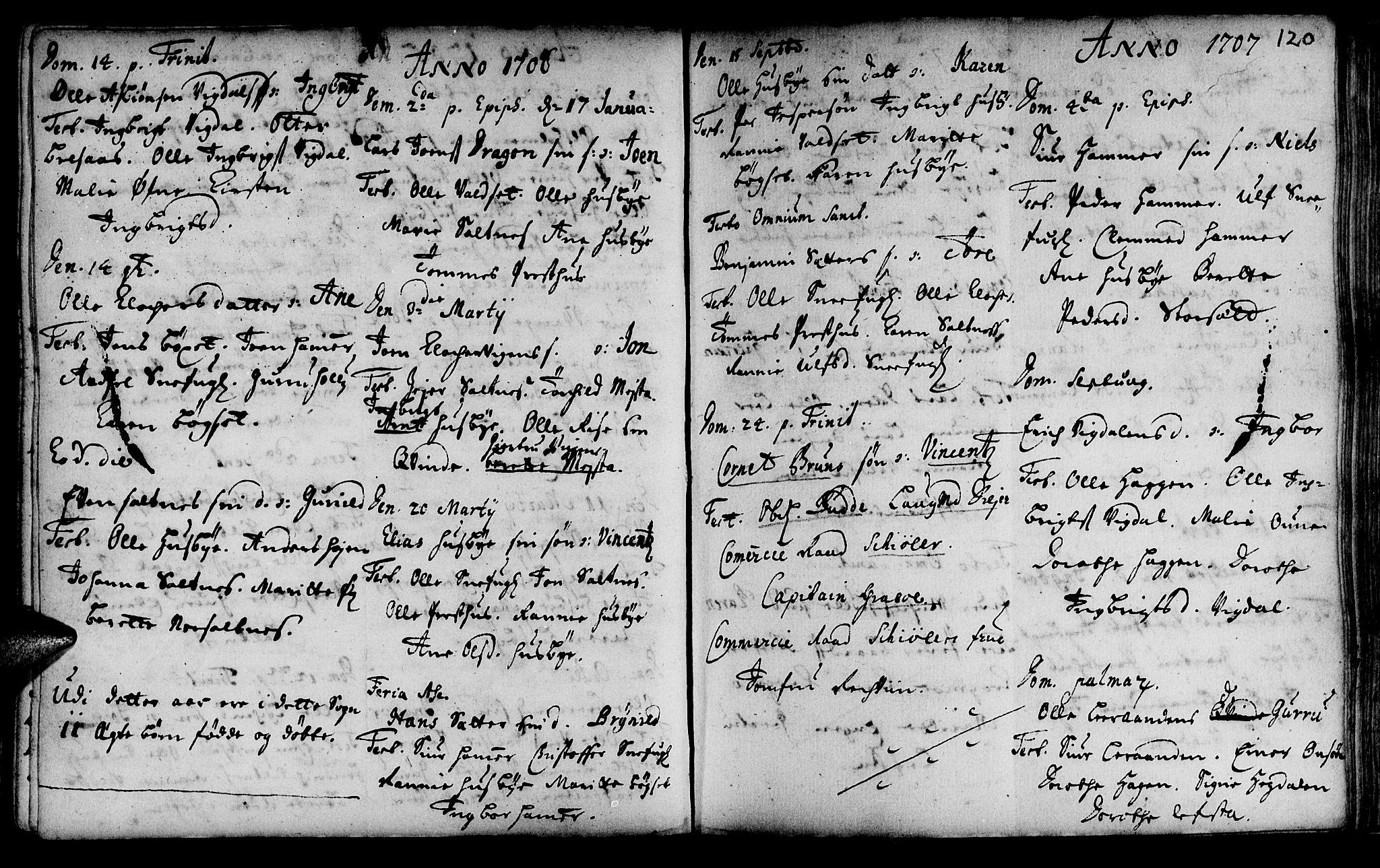 SAT, Ministerialprotokoller, klokkerbøker og fødselsregistre - Sør-Trøndelag, 666/L0783: Ministerialbok nr. 666A01, 1702-1753, s. 120