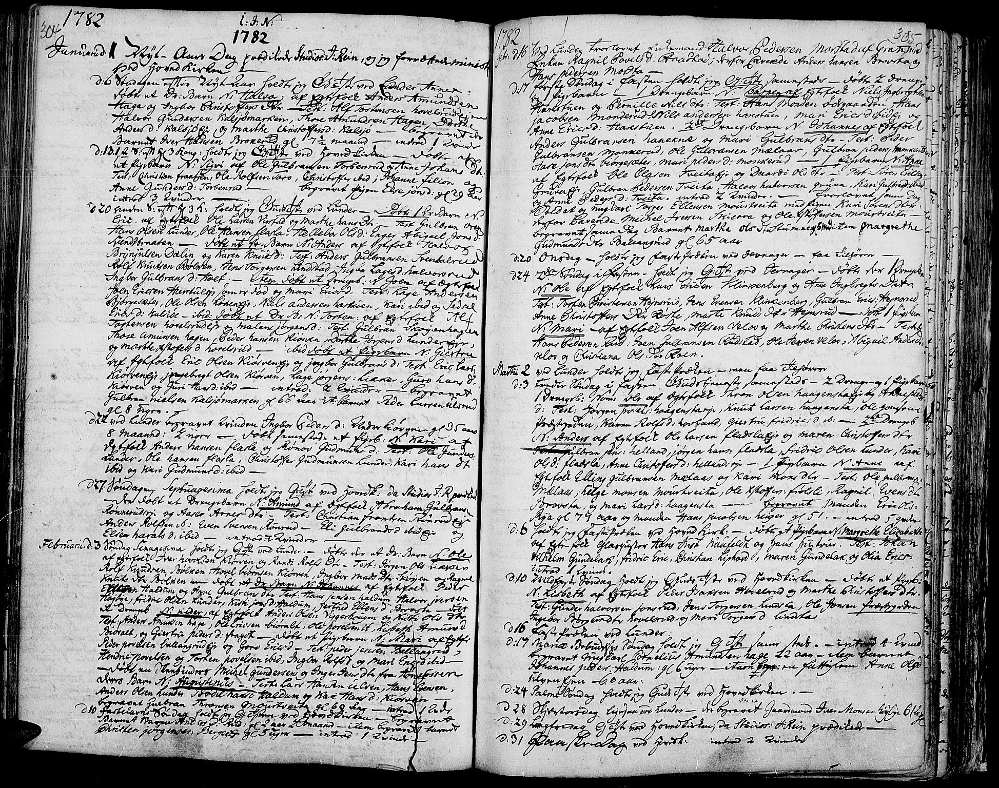 SAH, Jevnaker prestekontor, Ministerialbok nr. 3, 1752-1799, s. 304-305