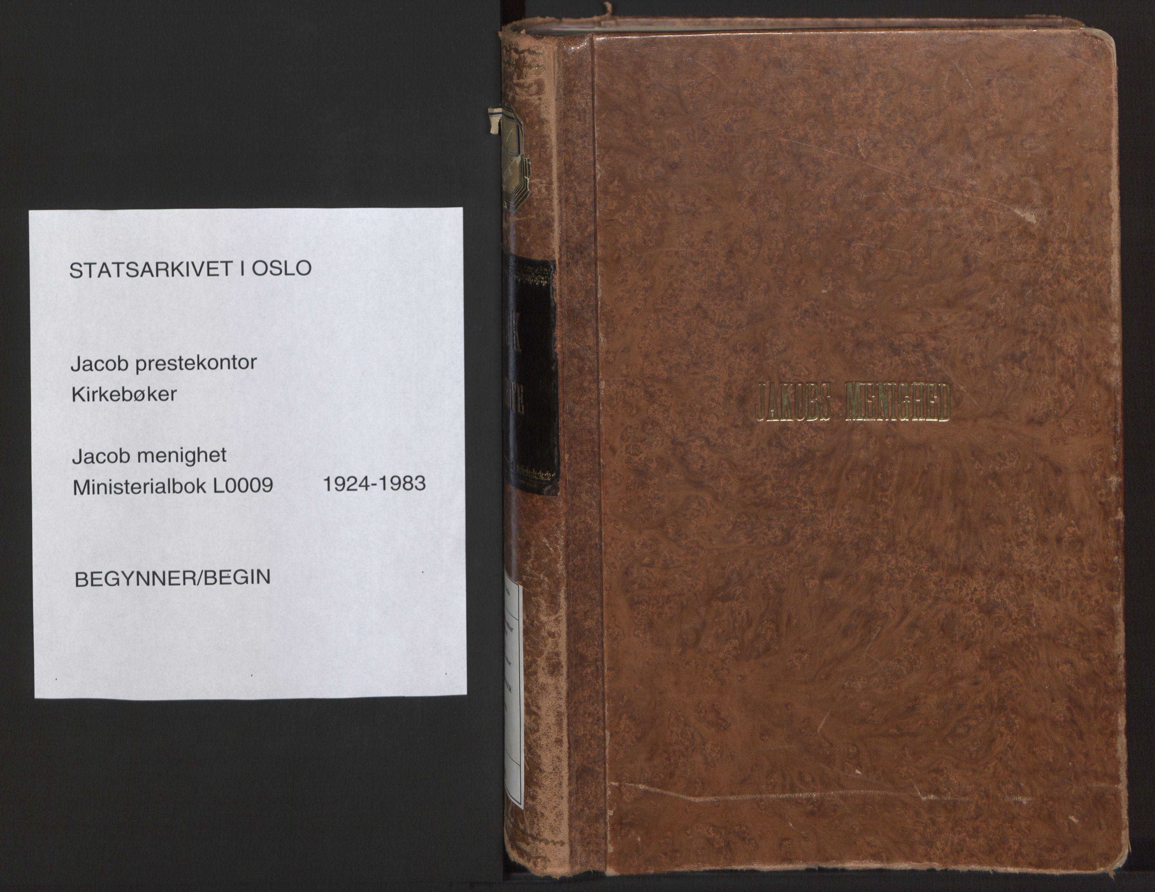 SAO, Jakob prestekontor Kirkebøker, F/Fa/L0009: Ministerialbok nr. 9, 1924-1983