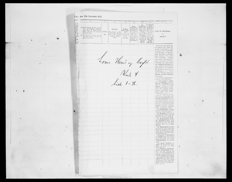 SAH, Folketelling 1875 for 0514P Lom prestegjeld, 1875, s. 587