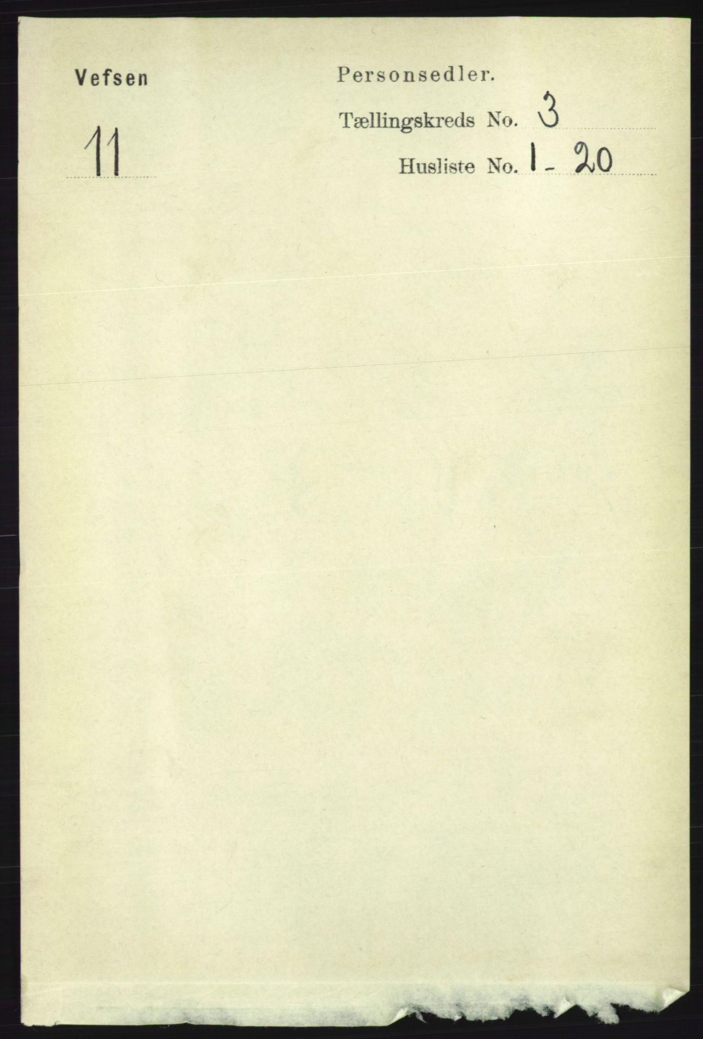 RA, Folketelling 1891 for 1824 Vefsn herred, 1891, s. 1276