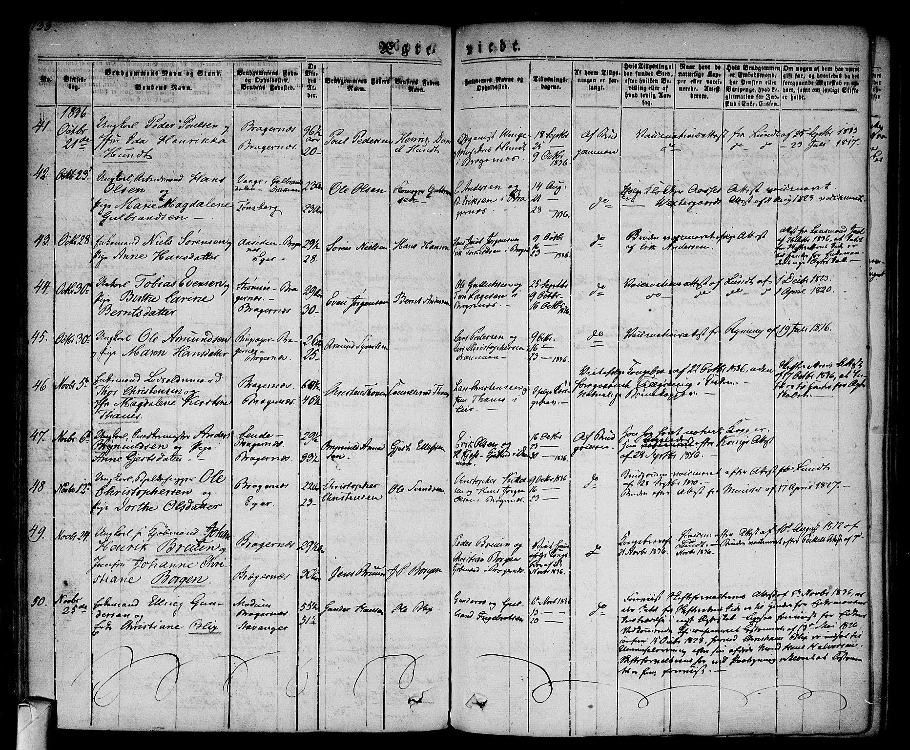 SAKO, Bragernes kirkebøker, F/Fc/L0001: Ministerialbok nr. III 1, 1830-1853, s. 133
