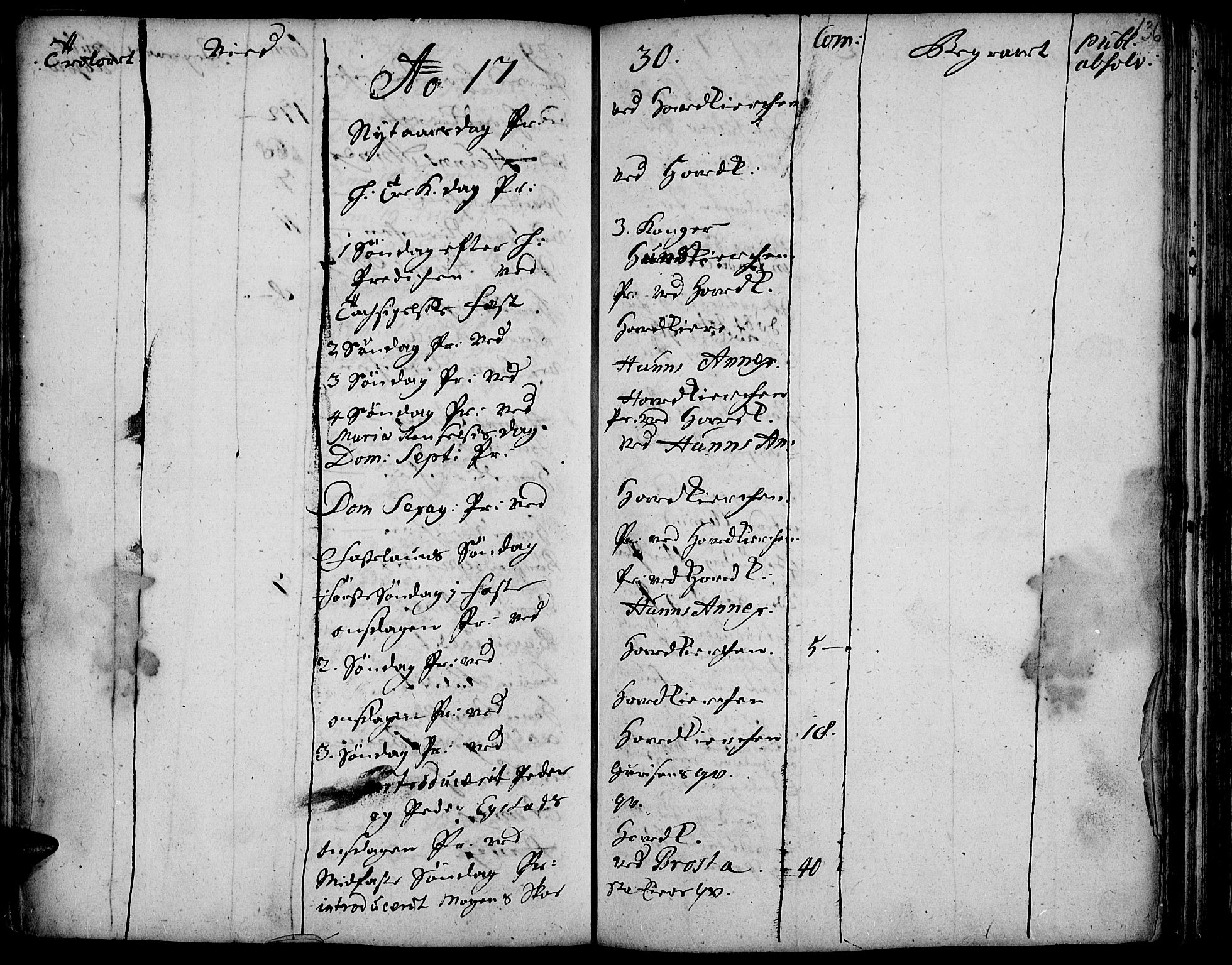 SAH, Vardal prestekontor, H/Ha/Haa/L0001: Ministerialbok nr. 1, 1706-1748, s. 136