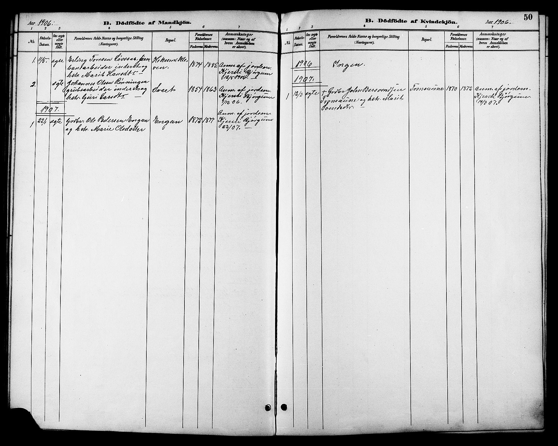 SAT, Ministerialprotokoller, klokkerbøker og fødselsregistre - Sør-Trøndelag, 685/L0978: Klokkerbok nr. 685C03, 1891-1907, s. 50