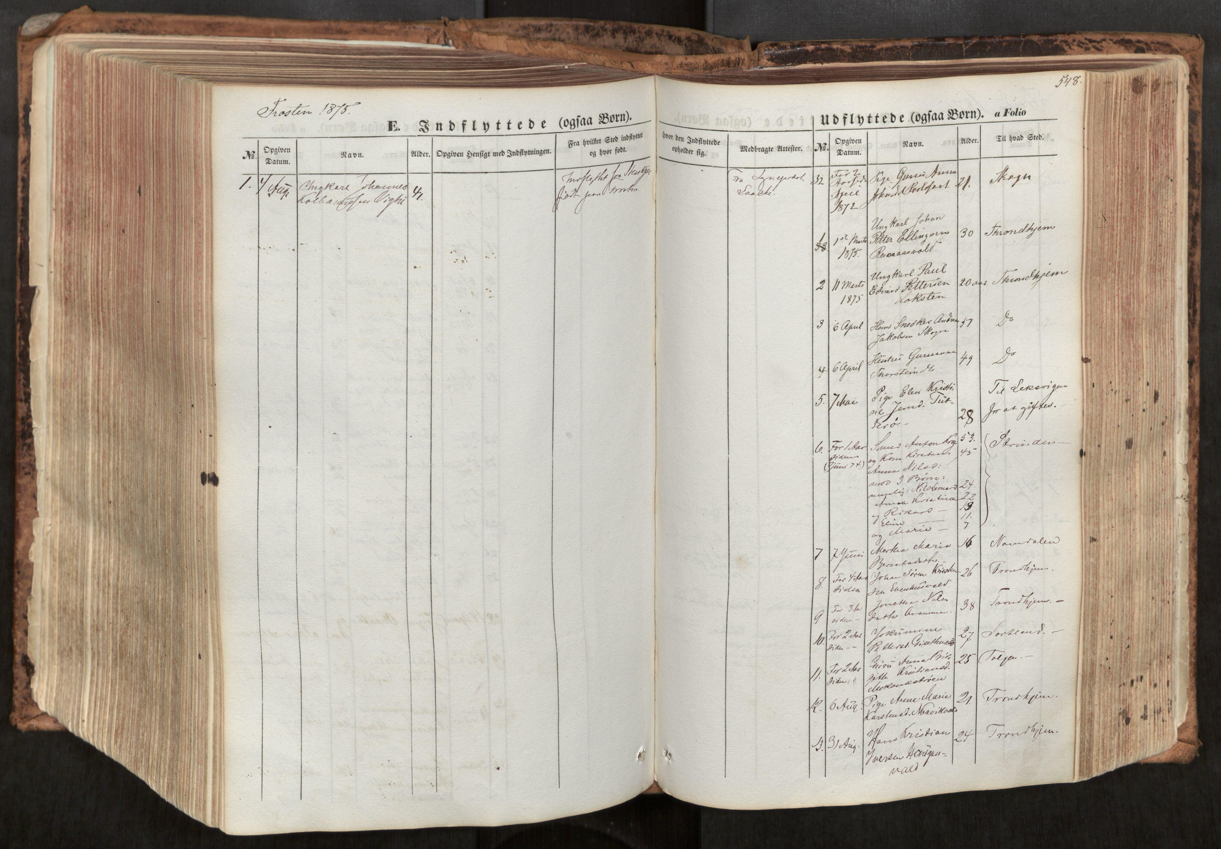 SAT, Ministerialprotokoller, klokkerbøker og fødselsregistre - Nord-Trøndelag, 713/L0116: Ministerialbok nr. 713A07, 1850-1877, s. 548