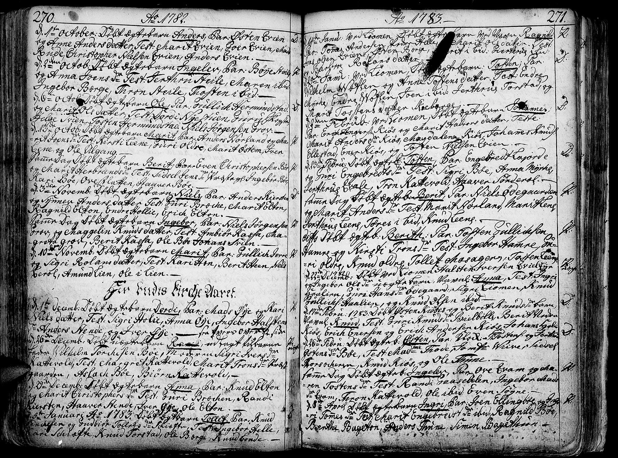 SAH, Vang prestekontor, Valdres, Ministerialbok nr. 1, 1730-1796, s. 270-271