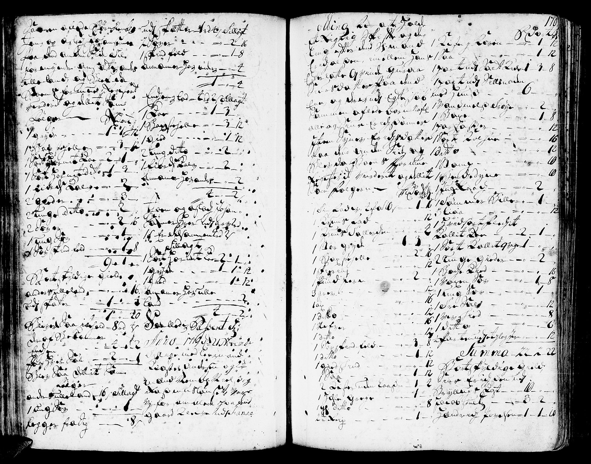 SAT, Romsdal sorenskriveri, 3/3A/L0006: Skifteprotokoll, 1718-1730, s. 169b-170a