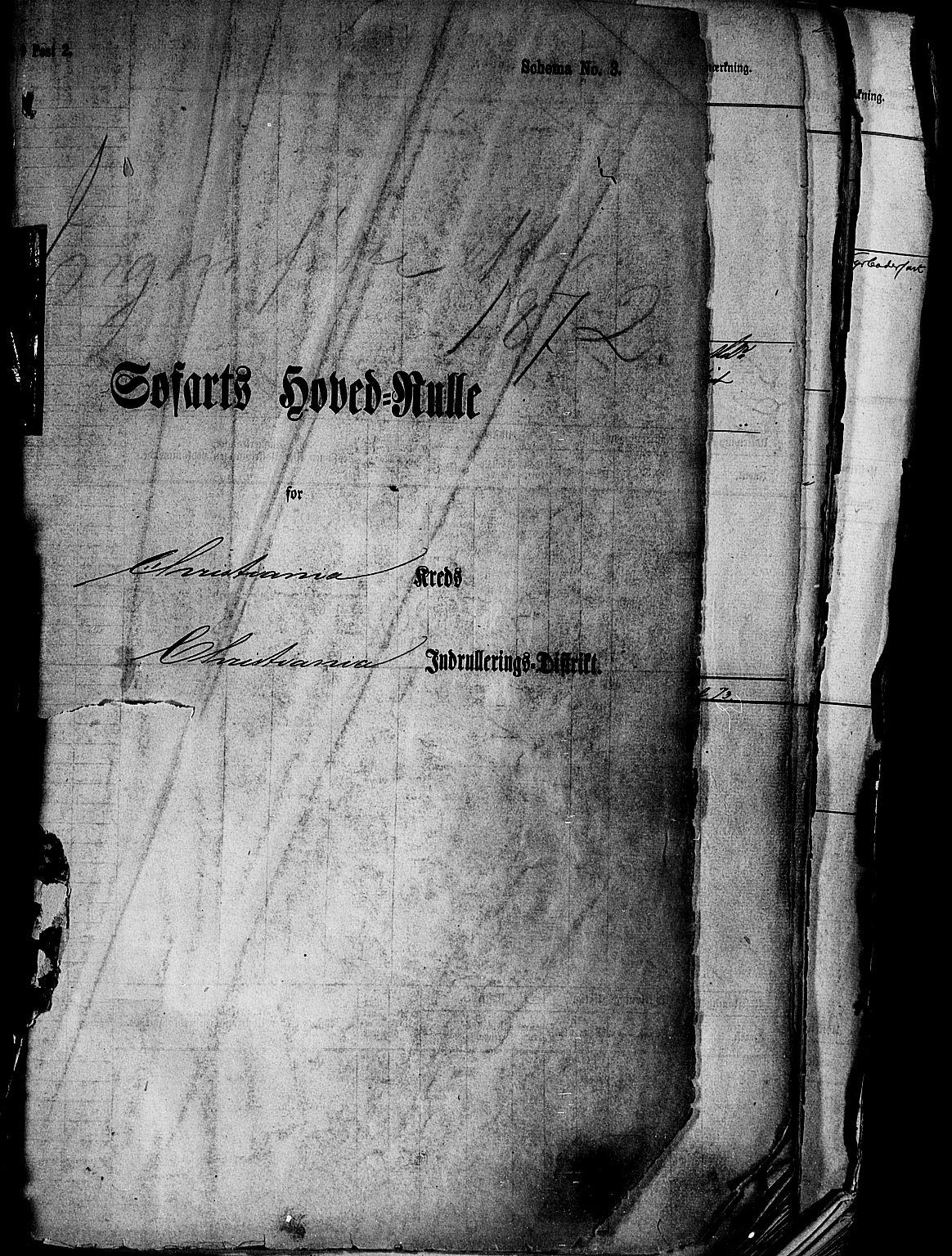 SAO, Oslo mønstringskontor, F/Fc/Fcb/L0003: Hovedrulle, 1868-1885, s. upaginert