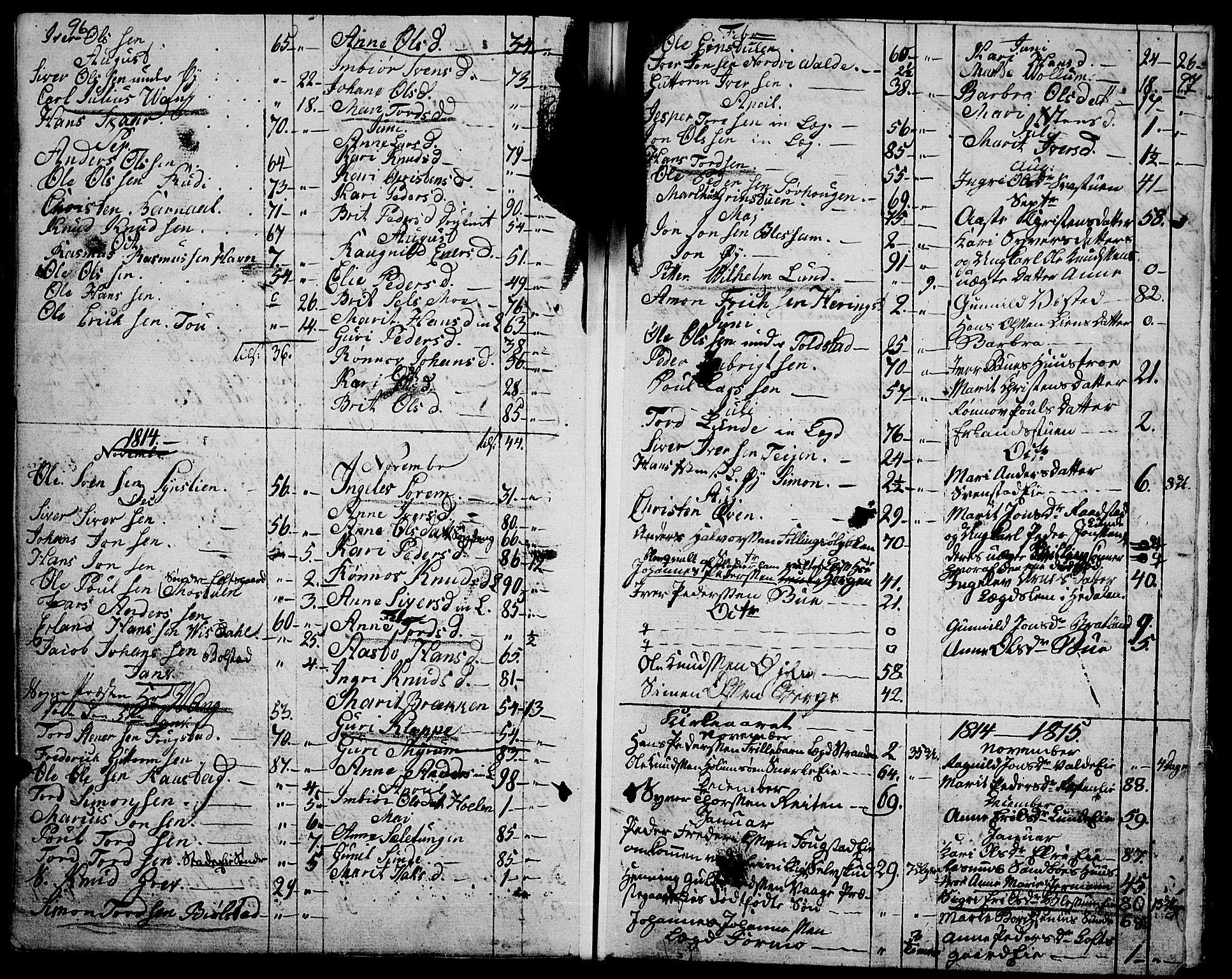 SAH, Vågå prestekontor, Ministerialbok nr. 2, 1810-1815, s. 96-97