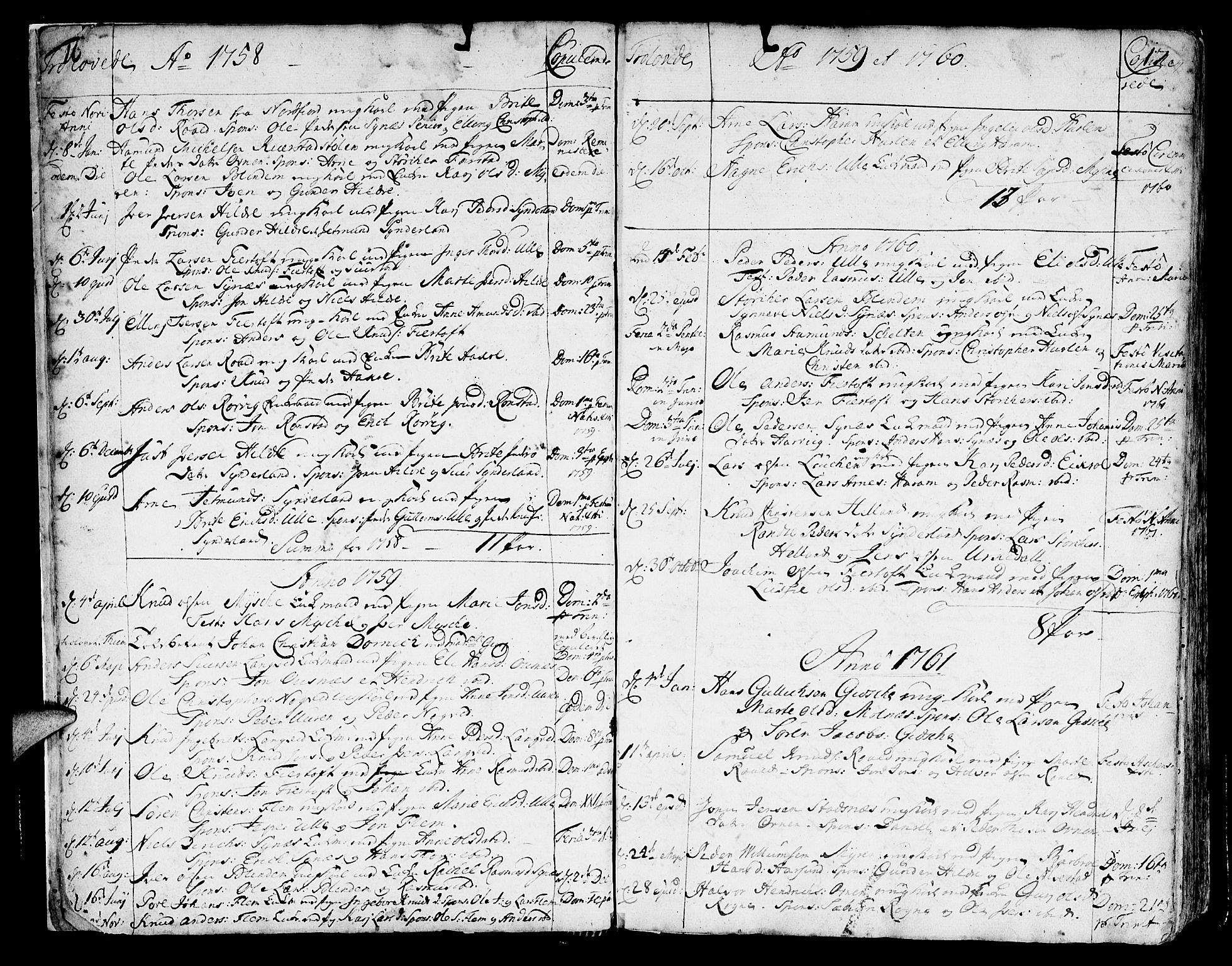 SAT, Ministerialprotokoller, klokkerbøker og fødselsregistre - Møre og Romsdal, 536/L0493: Ministerialbok nr. 536A02, 1739-1802, s. 16-17