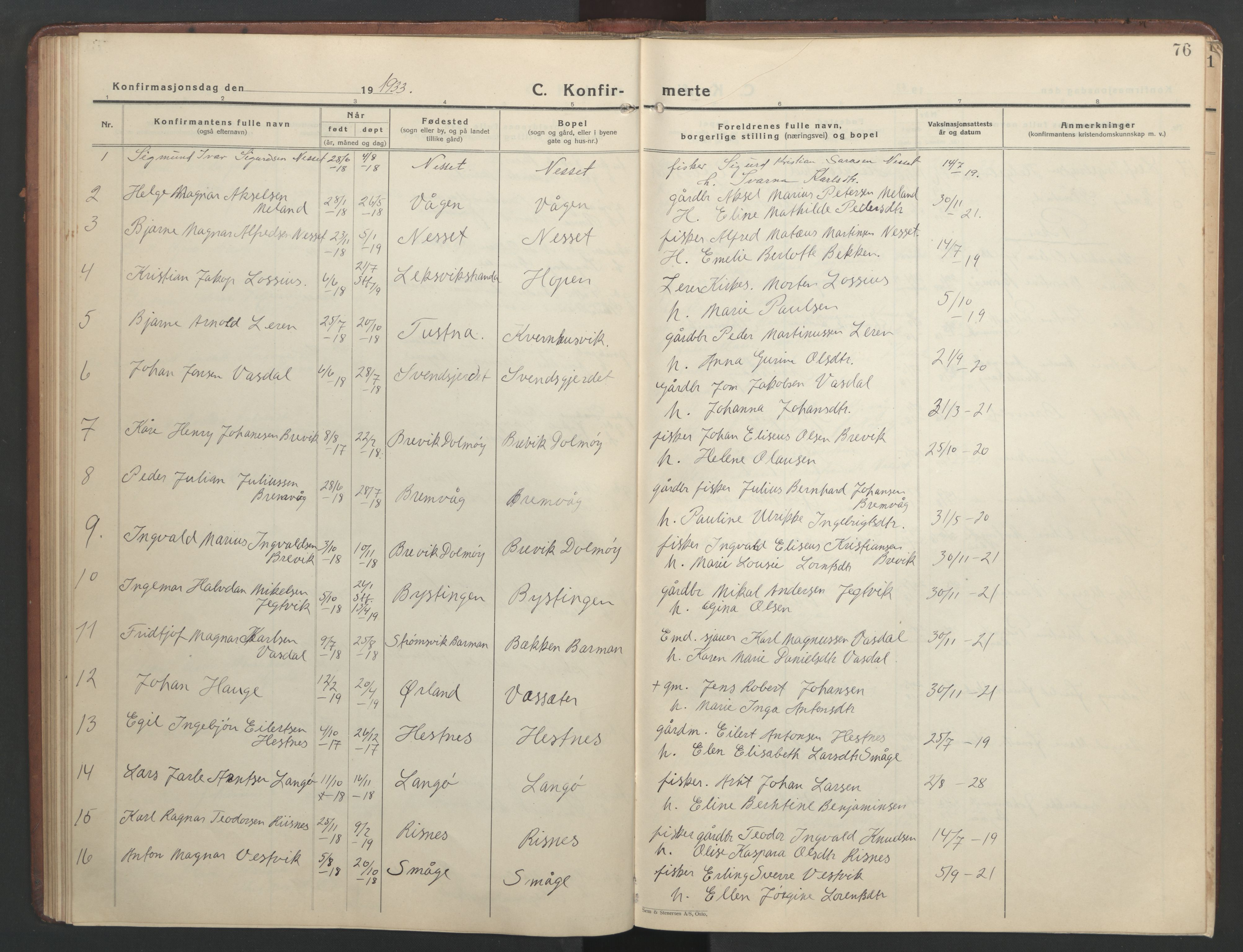 SAT, Ministerialprotokoller, klokkerbøker og fødselsregistre - Sør-Trøndelag, 634/L0544: Klokkerbok nr. 634C06, 1927-1948, s. 76