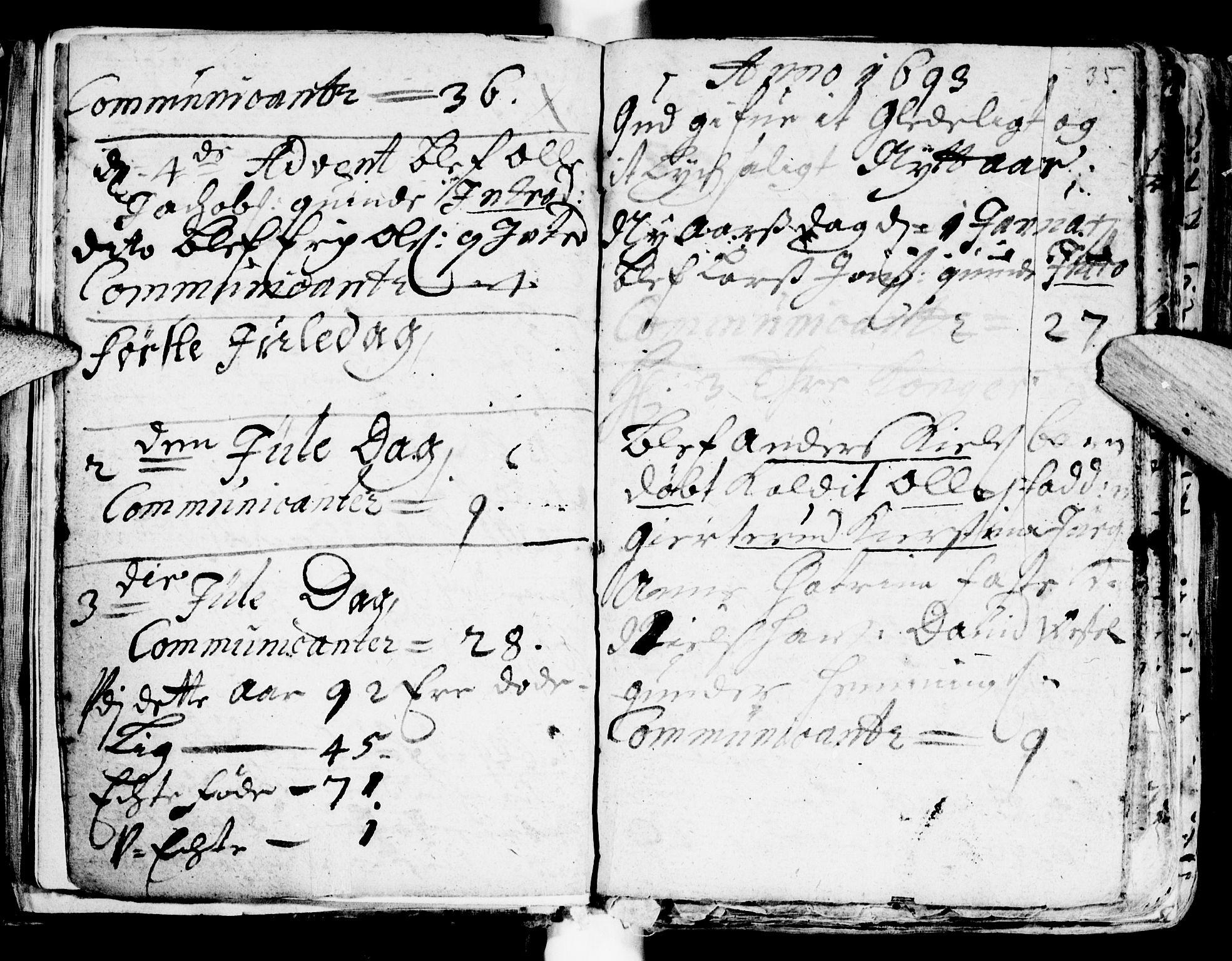 SAT, Ministerialprotokoller, klokkerbøker og fødselsregistre - Sør-Trøndelag, 681/L0923: Ministerialbok nr. 681A01, 1691-1700, s. 35