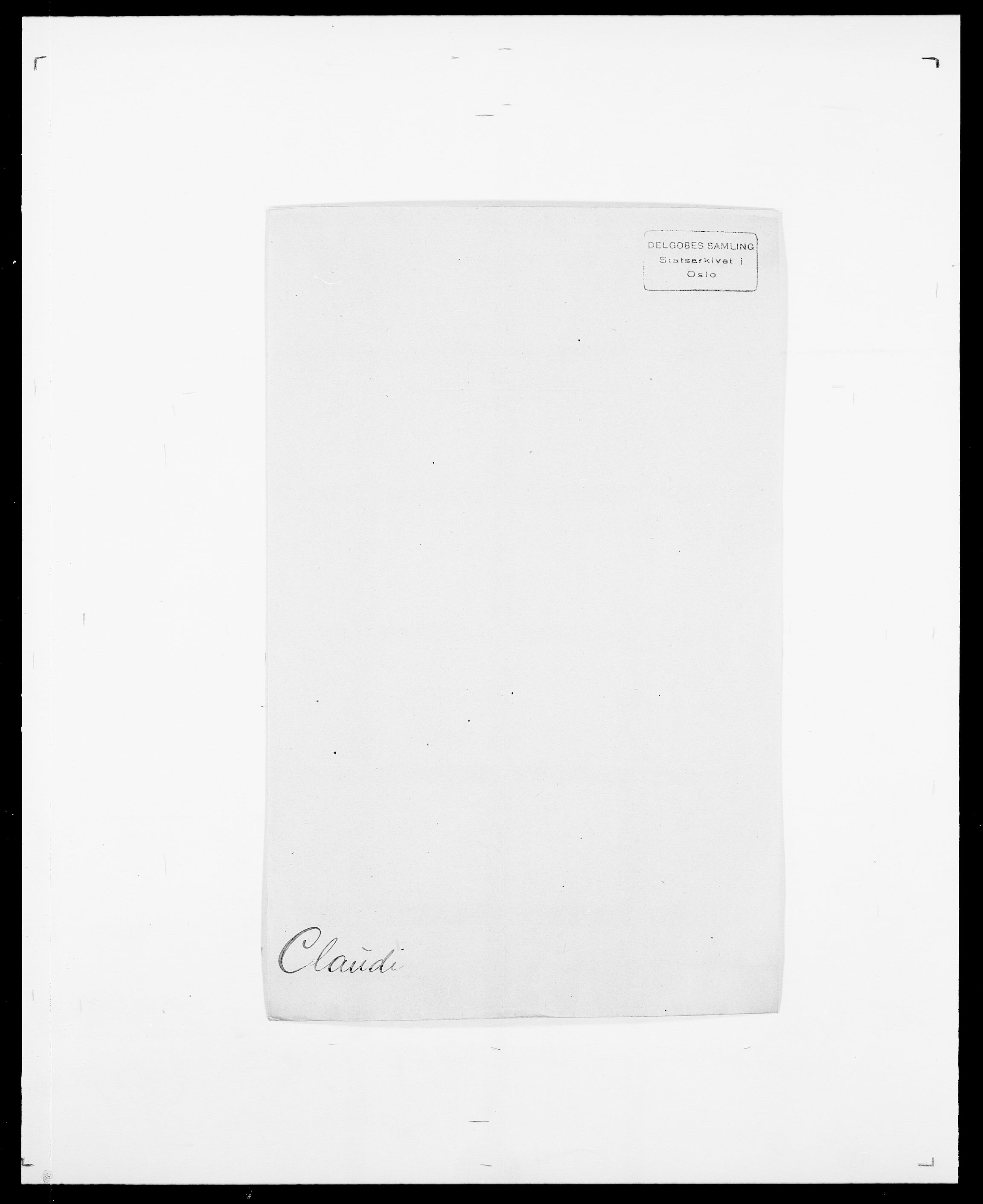 SAO, Delgobe, Charles Antoine - samling, D/Da/L0008: Capjon - Dagenbolt, s. 311