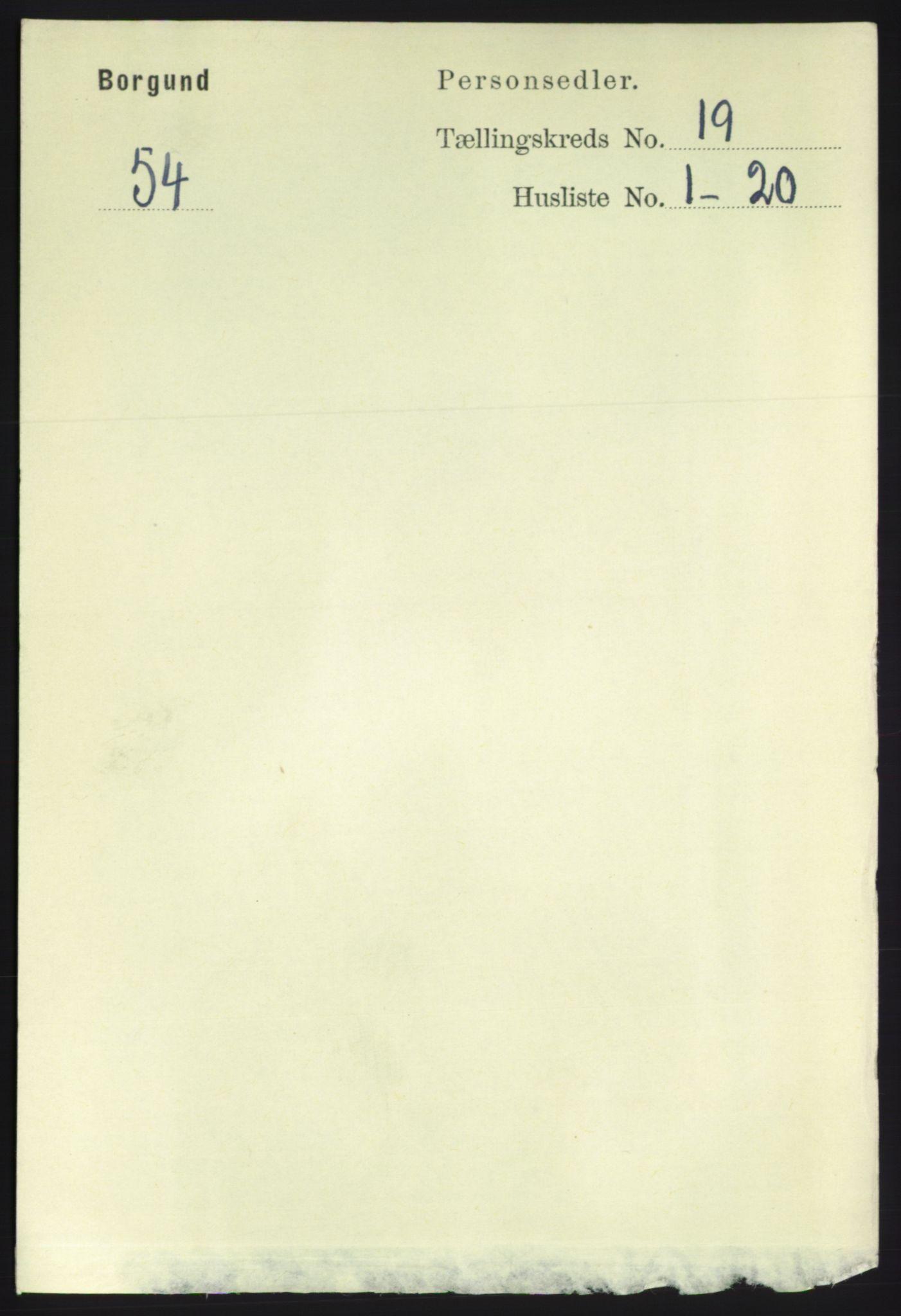 RA, Folketelling 1891 for 1531 Borgund herred, 1891, s. 5964