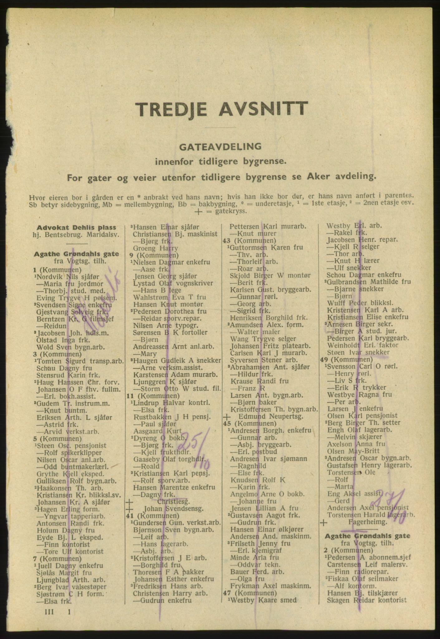 PUBL, Kristiania/Oslo adressebok, 1952, s. 1701
