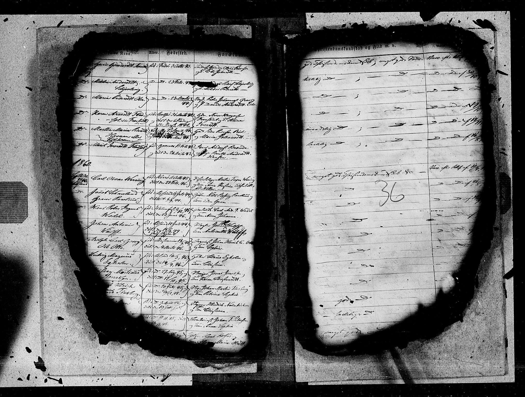 SAT, Ministerialprotokoller, klokkerbøker og fødselsregistre - Møre og Romsdal, 572/L0846: Ministerialbok nr. 572A09, 1855-1865, s. 36