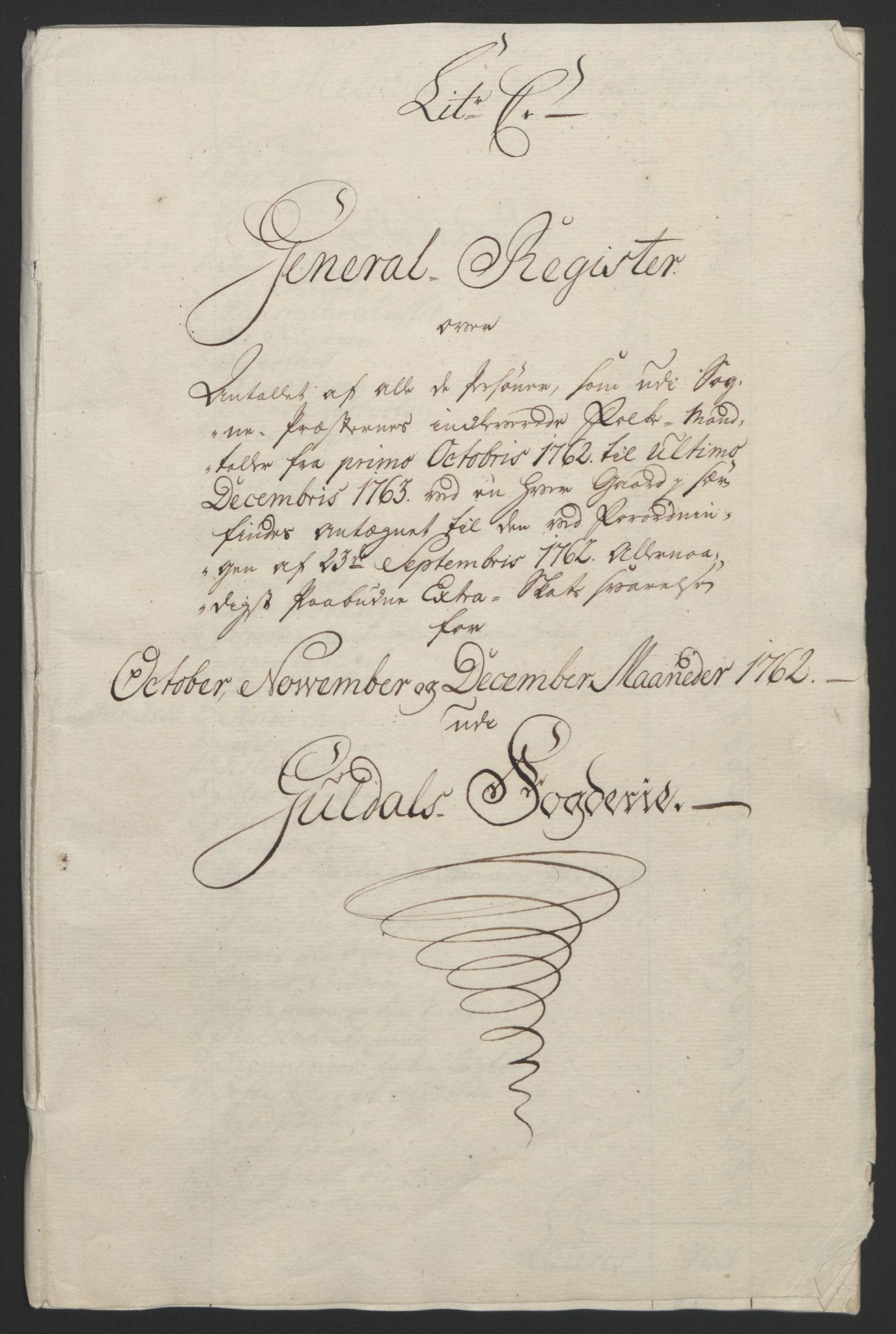 RA, Rentekammeret inntil 1814, Reviderte regnskaper, Fogderegnskap, R60/L4094: Ekstraskatten Orkdal og Gauldal, 1762-1765, s. 40