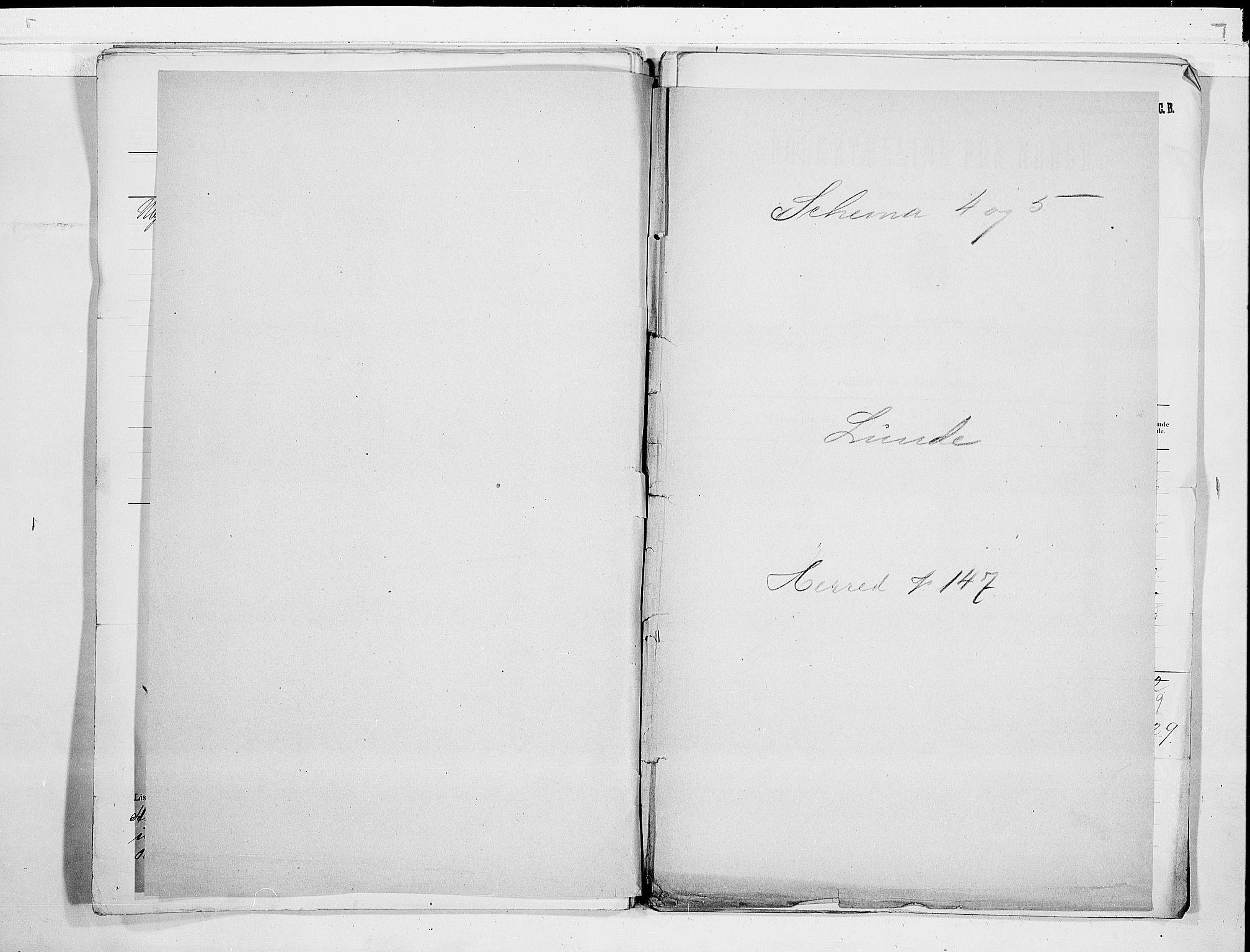 SAKO, Folketelling 1900 for 0820 Lunde herred, 1900, s. 1