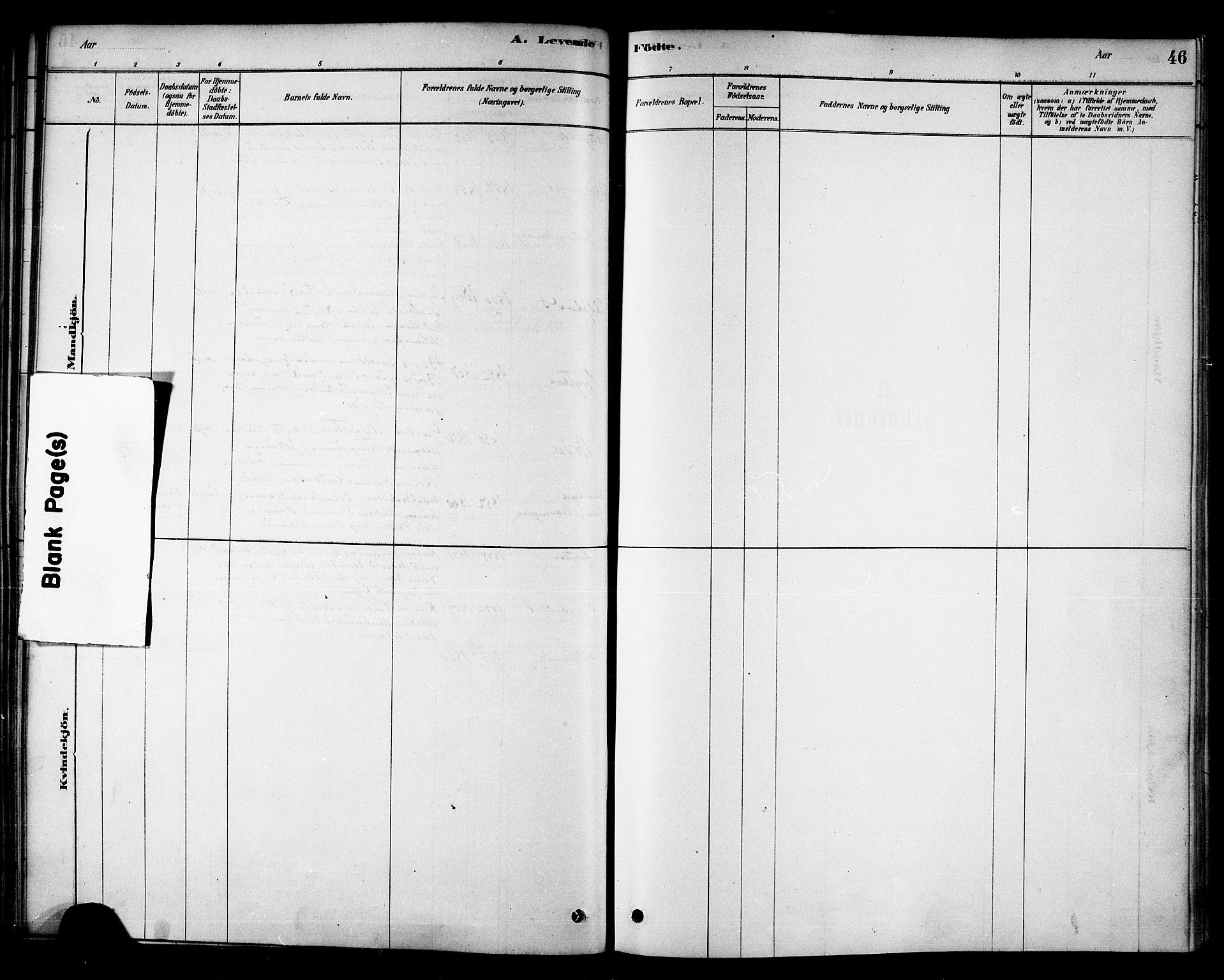 SAT, Ministerialprotokoller, klokkerbøker og fødselsregistre - Nord-Trøndelag, 742/L0408: Ministerialbok nr. 742A01, 1878-1890, s. 46