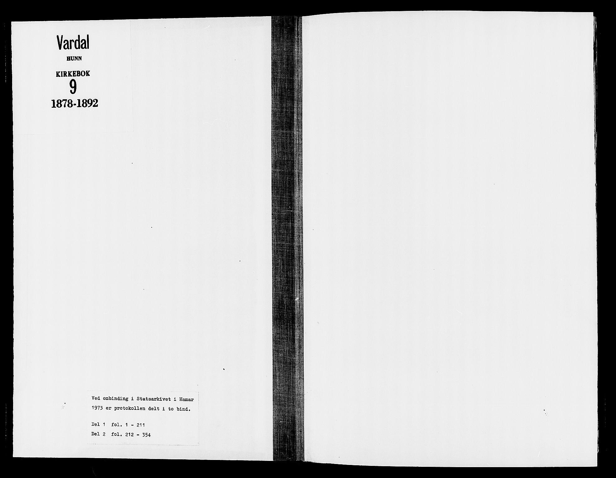 SAH, Vardal prestekontor, H/Ha/Haa/L0009: Ministerialbok nr. 9, 1878-1892