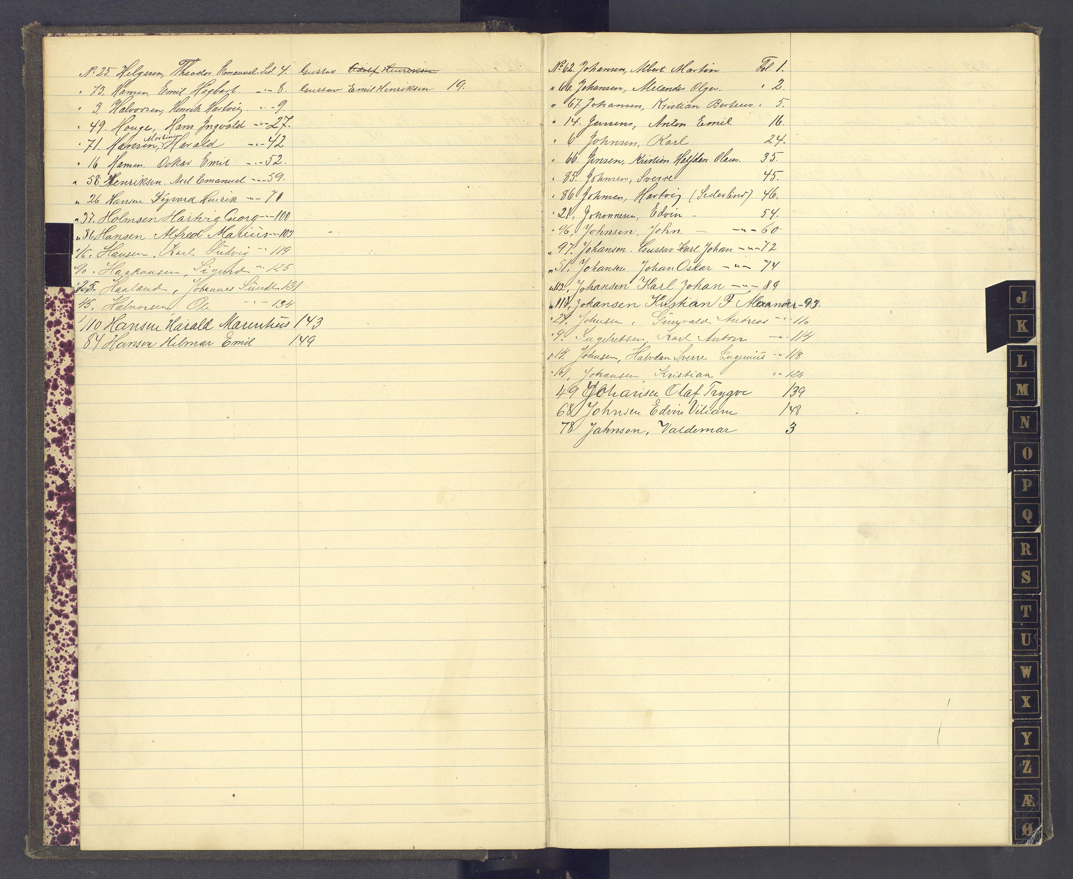 SAH, Toftes Gave, F/Fc/L0004: Elevprotokoll, 1885-1897, s. upaginert