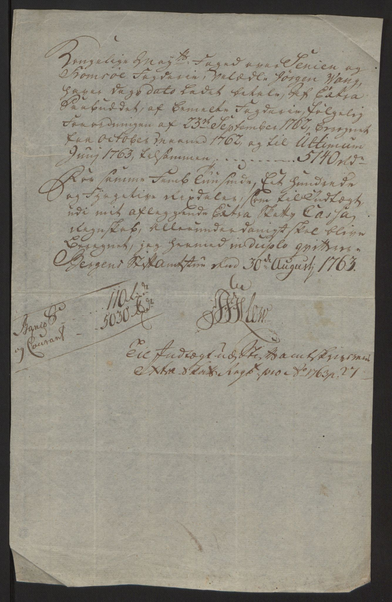 RA, Rentekammeret inntil 1814, Reviderte regnskaper, Fogderegnskap, R68/L4845: Ekstraskatten Senja og Troms, 1762-1765, s. 226